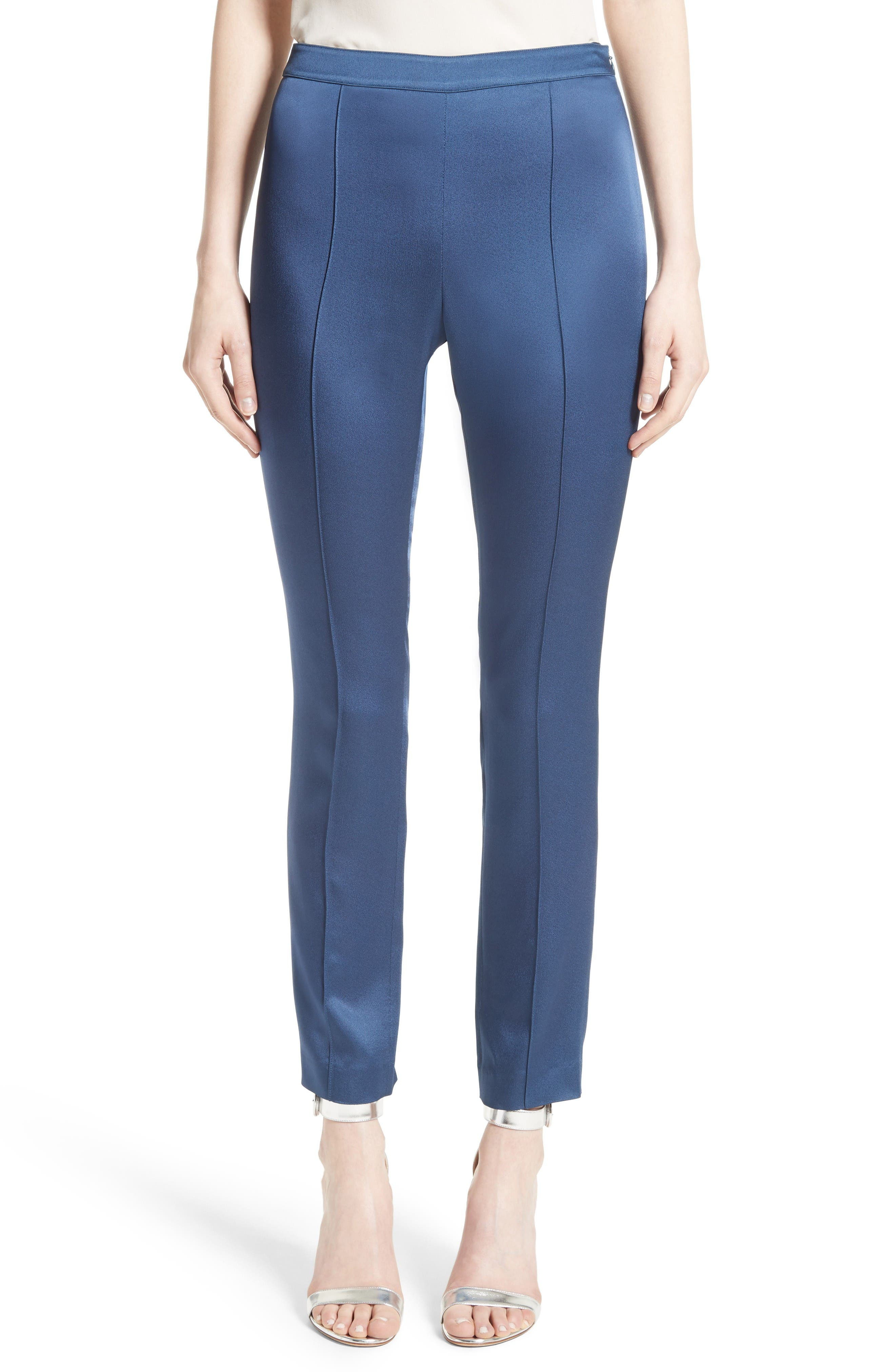 Main Image - St. John Collection Emma Luxe Satin Crepe Pants