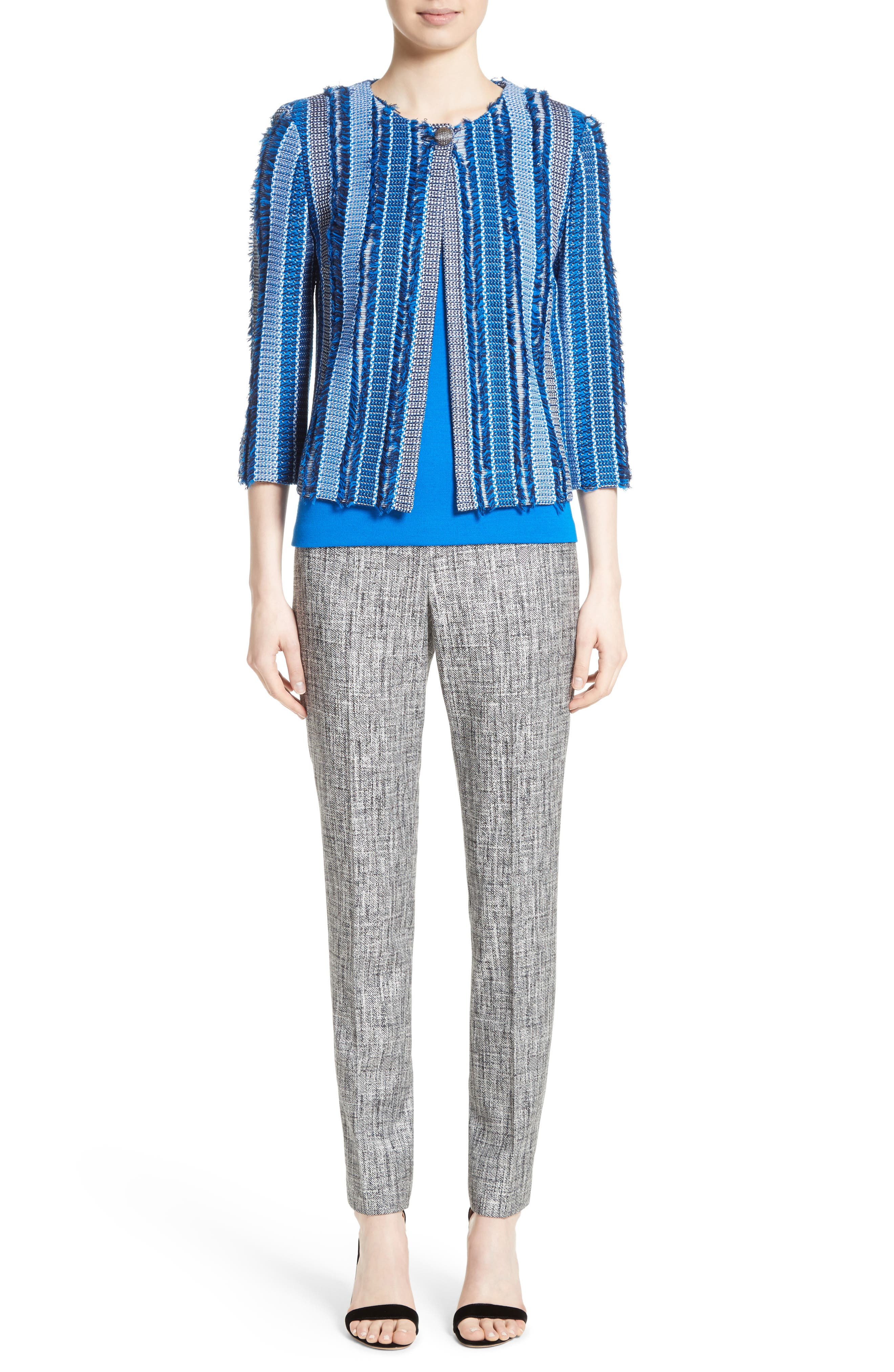 Alternate Image 8  - St. John Collection Emma Abstract Stretch Twill Pants