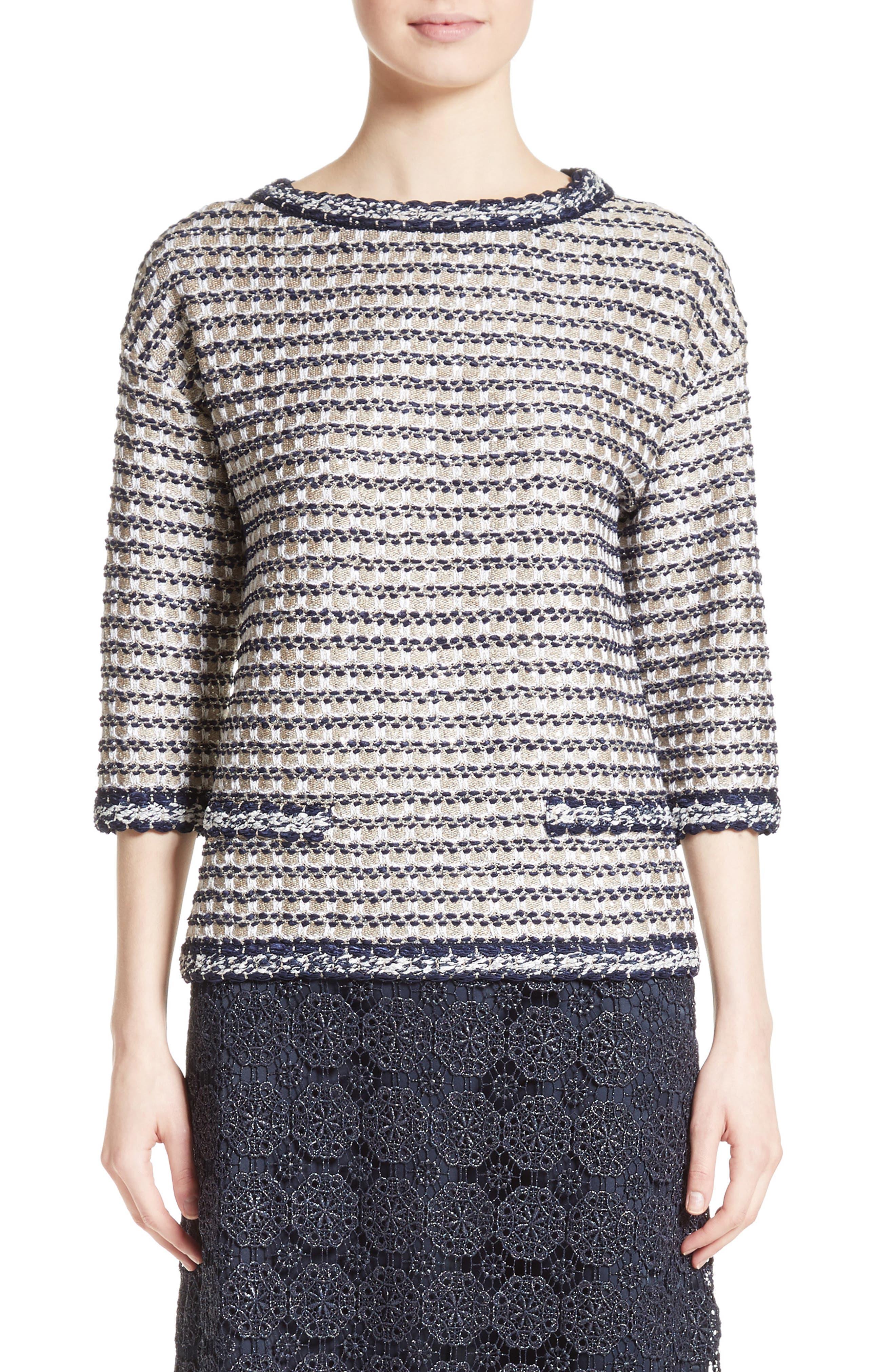 Main Image - St. John Collection Vany Tweed Knit Top