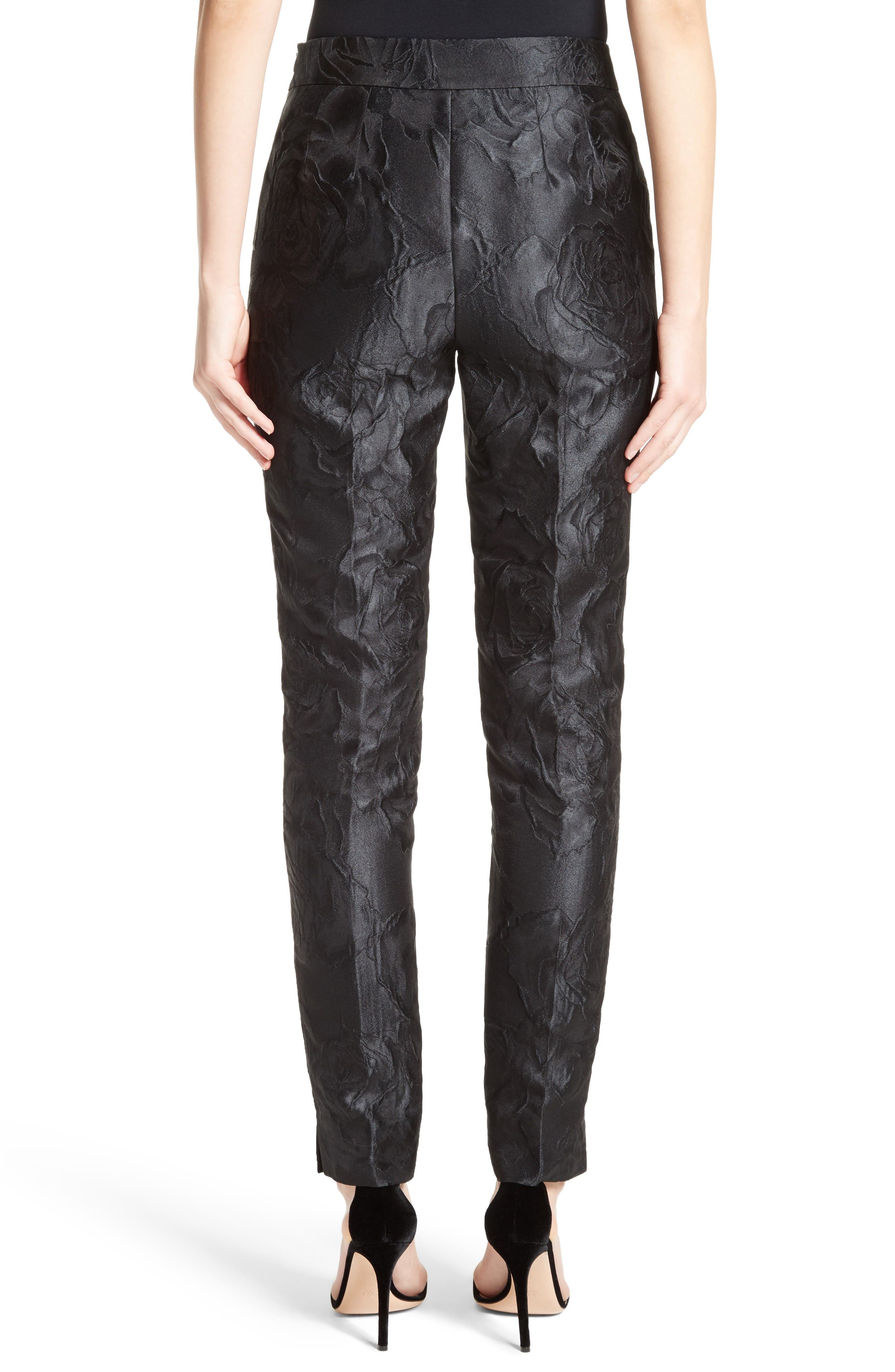 Alternate Image 2  - St. John Collection Emma Avani Rose Jacquard Pants