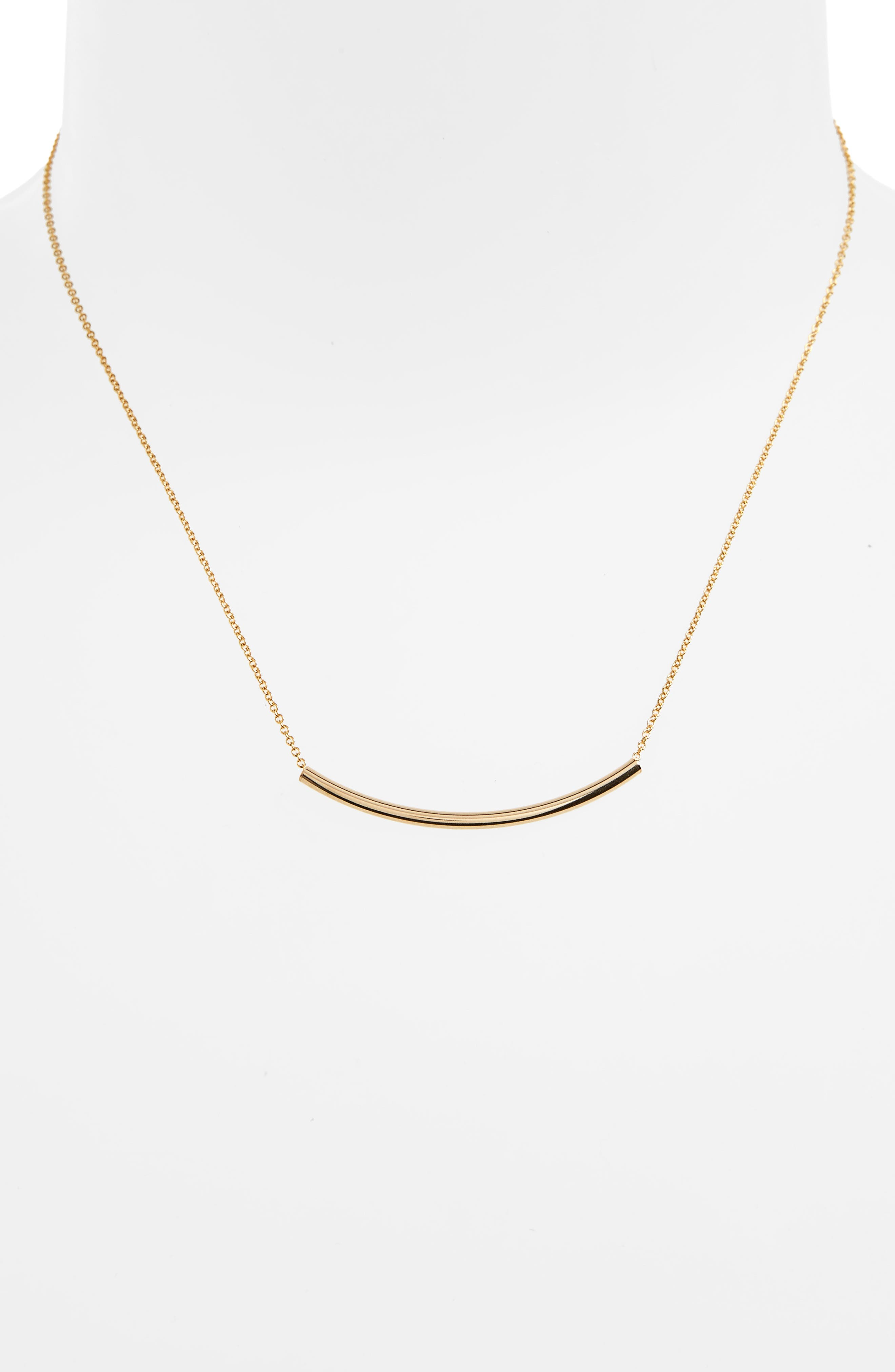Balance Tube Chain Necklace,                             Alternate thumbnail 3, color,                             Gold
