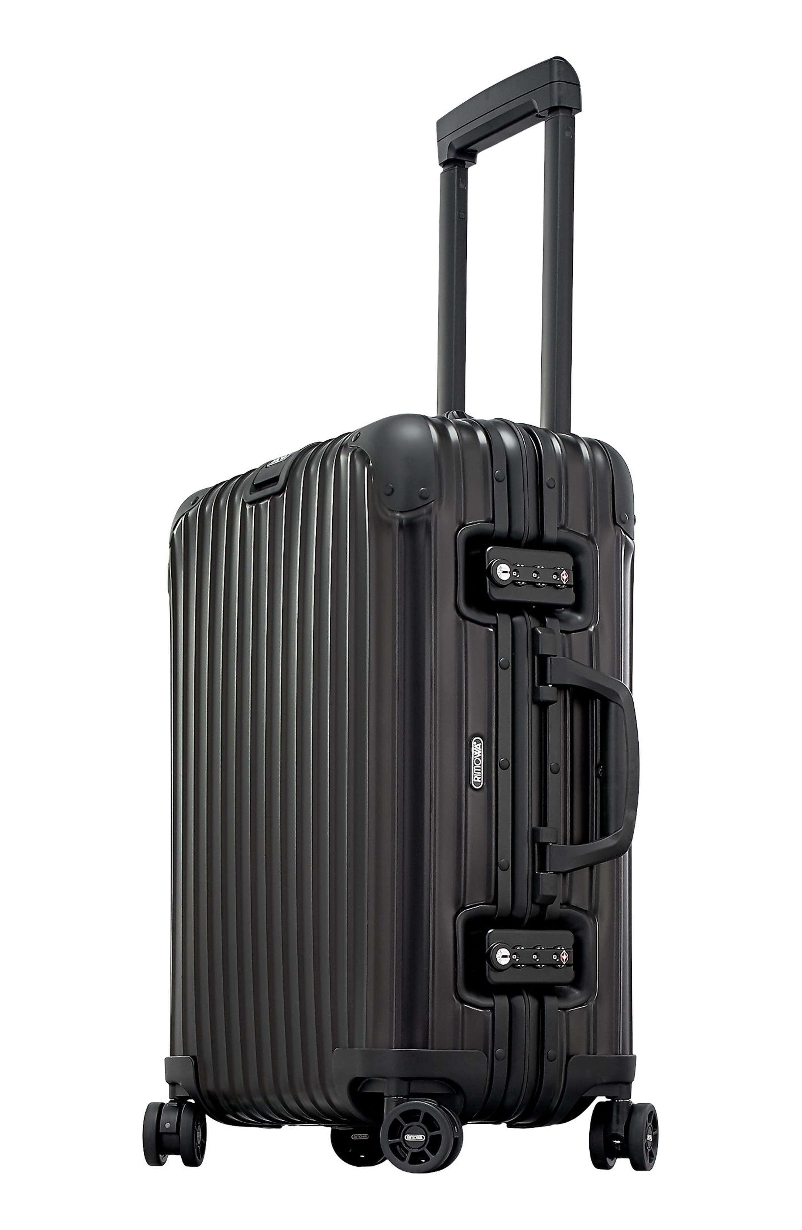 Alternate Image 3  - RIMOWA Topas Stealth 22-Inch Cabin Multiwheel® Aluminum Carry-On