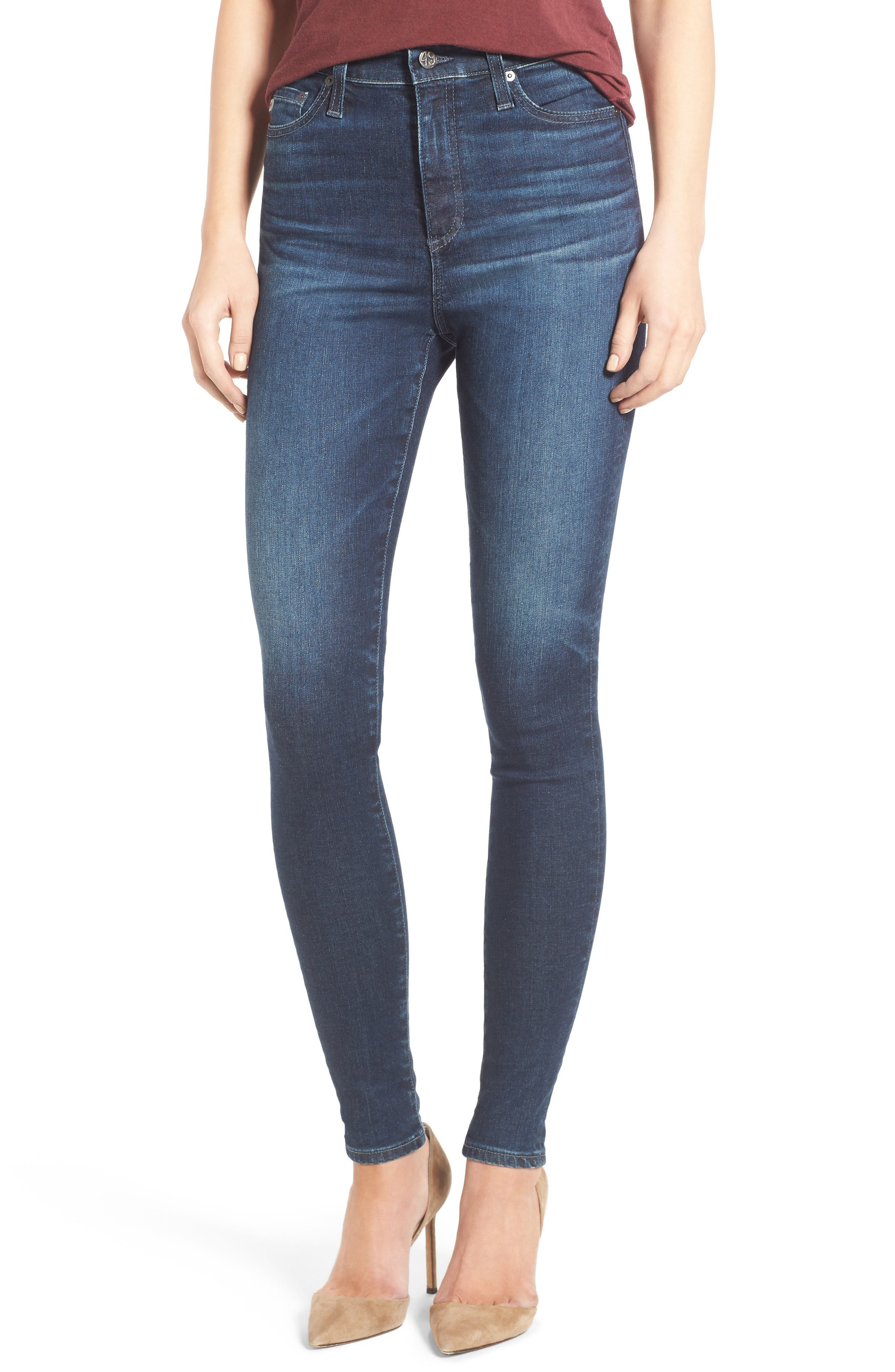 Alternate Image 1 Selected - AG Mila High Rise Skinny Jeans (03Y Rendezvous)