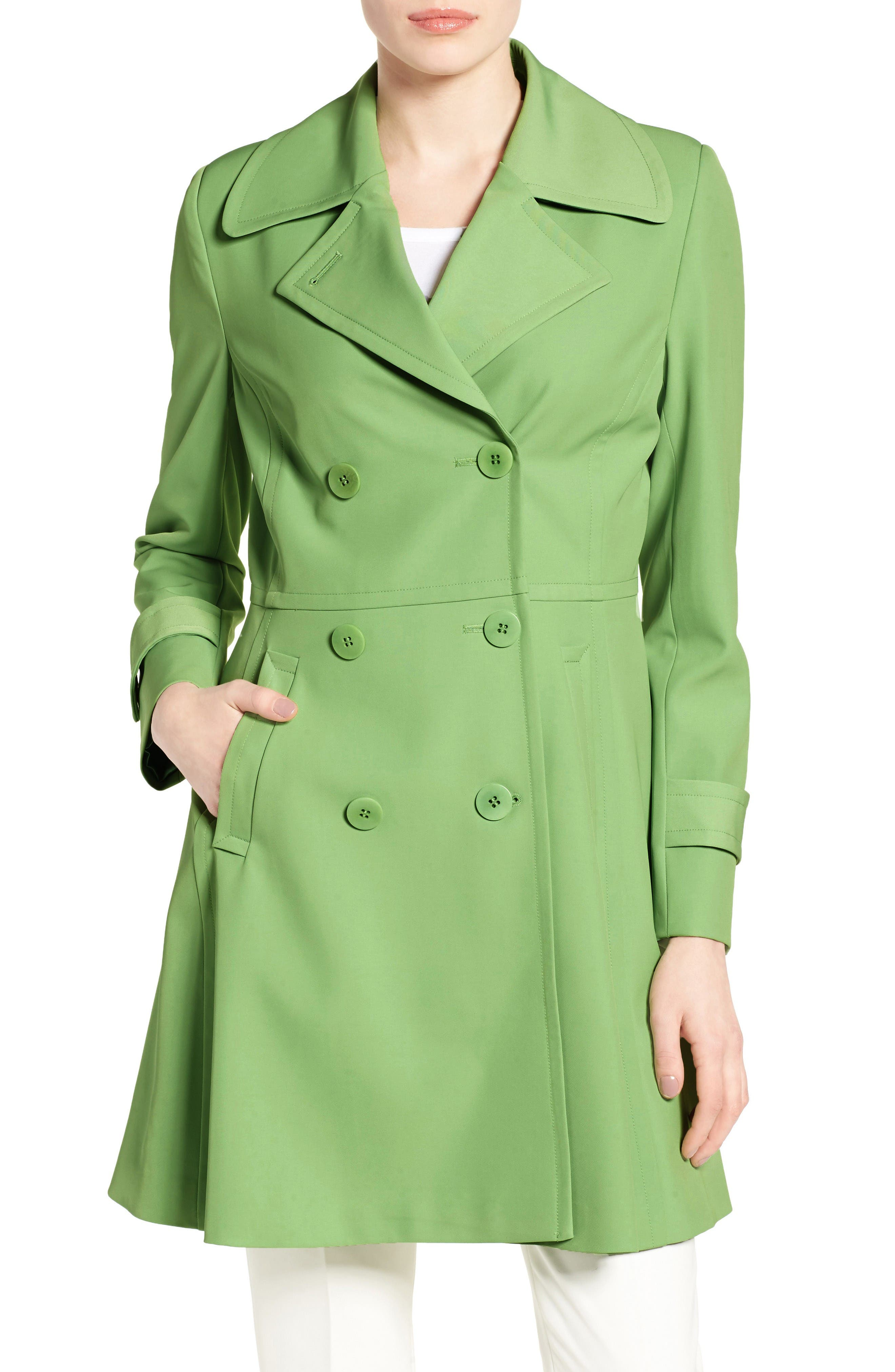 TRINA TURK Rosemarie Skirted Trench Coat