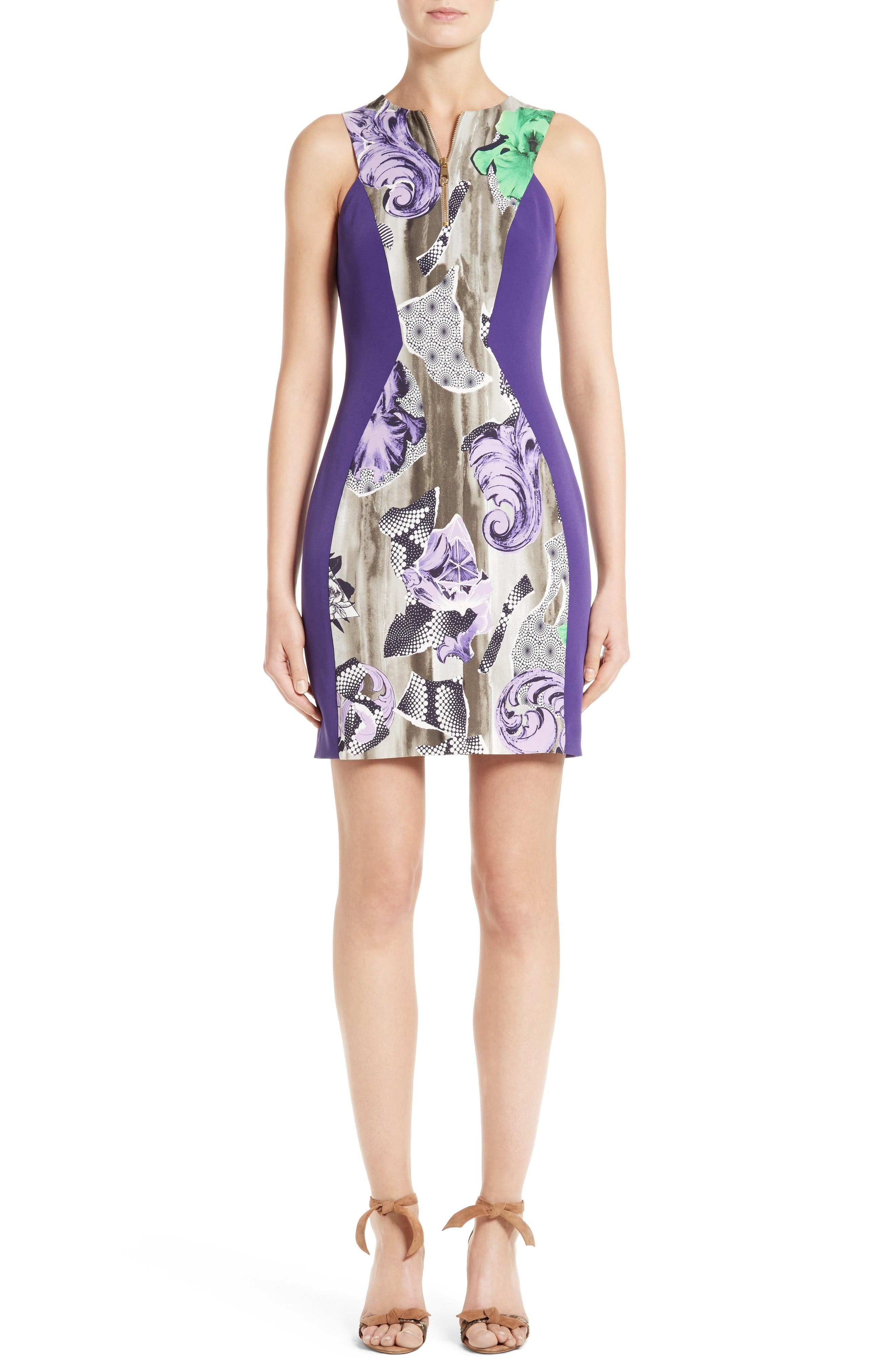 Alternate Image 1 Selected - Versace Collection Print Sheath Dress