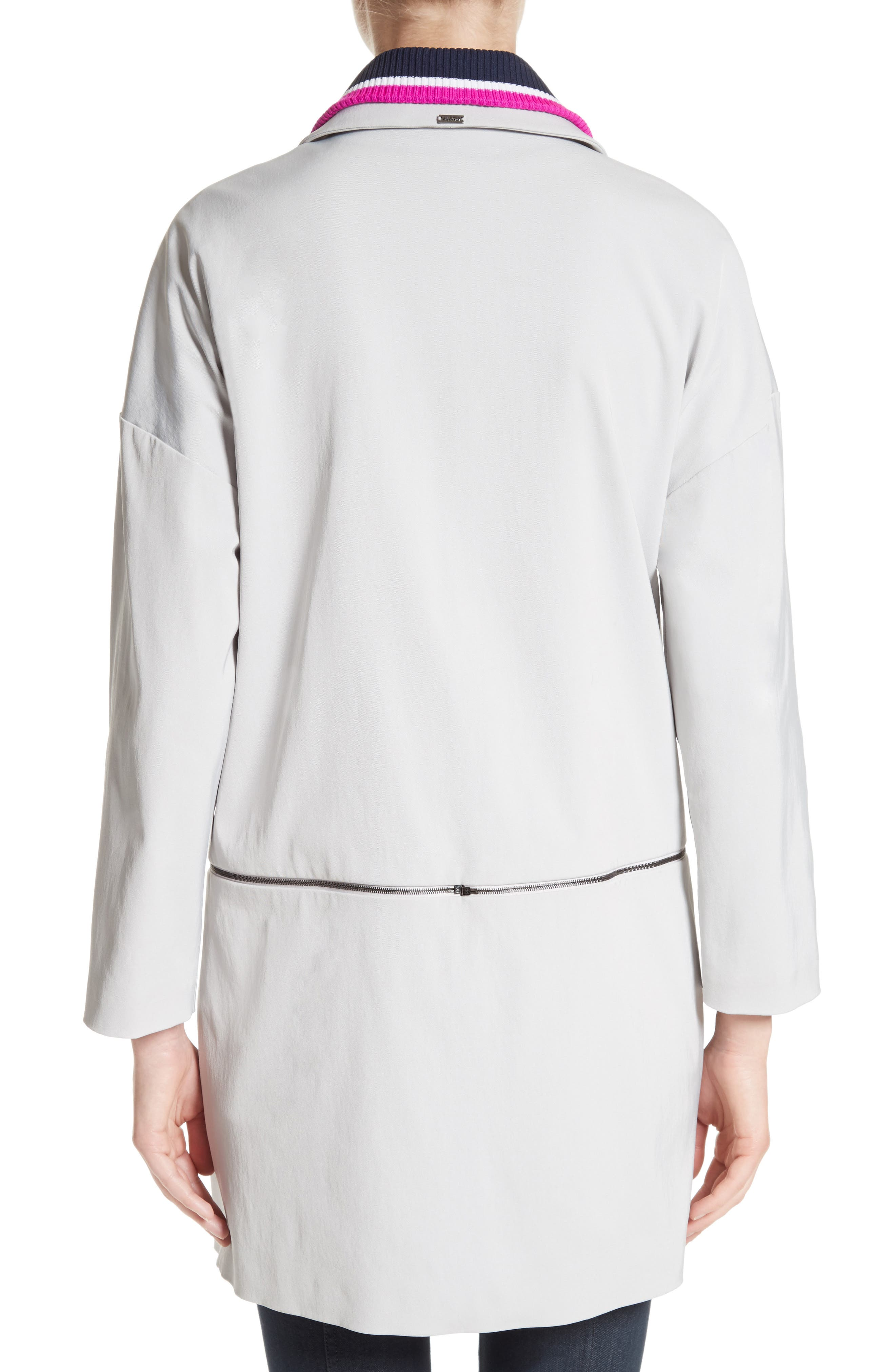Alternate Image 2  - St. John Collection Stretch Twill Convertible Coat