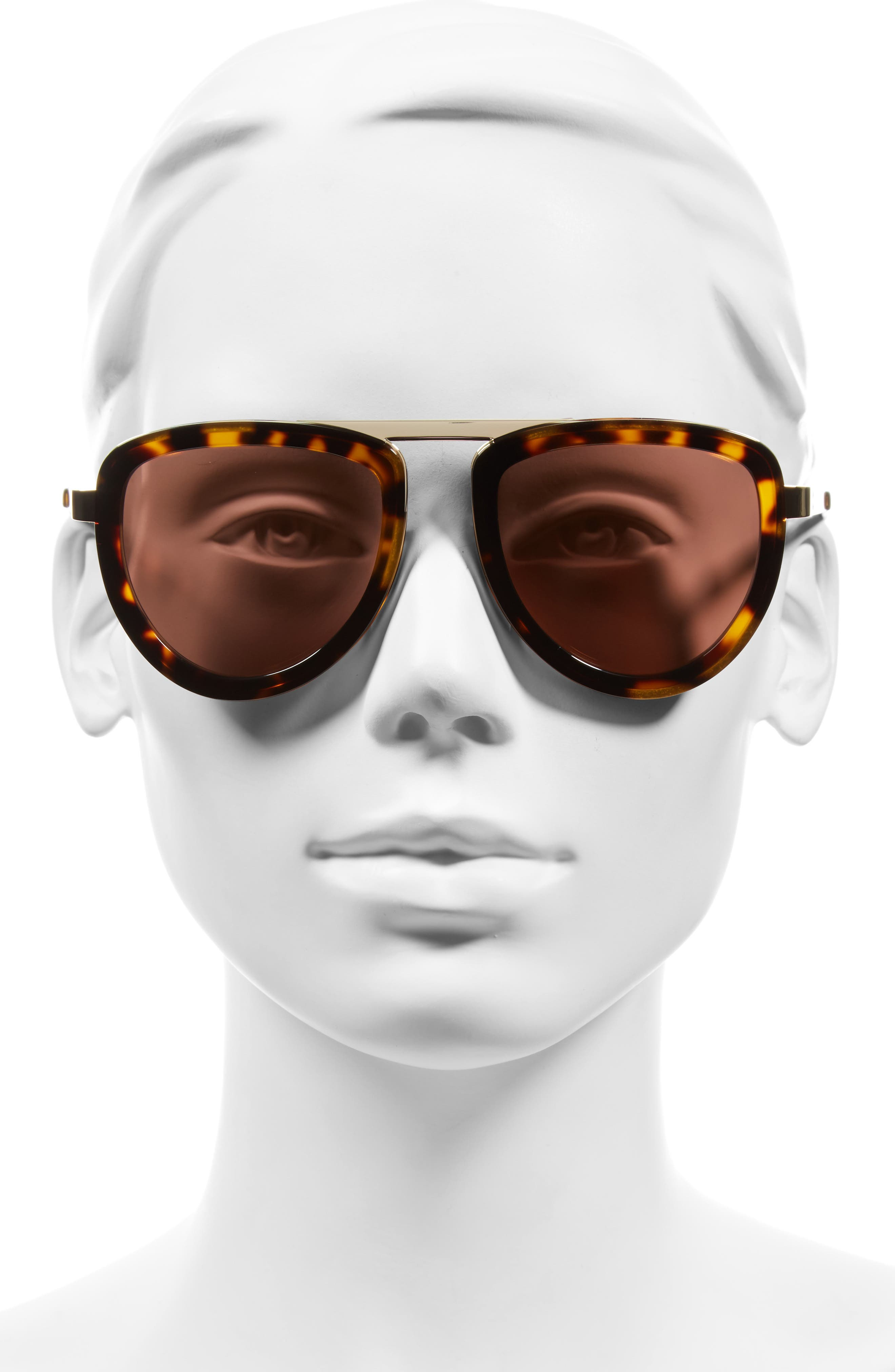 Alternate Image 2  - KENDALL + KYLIE 53mm Aviator Sunglasses