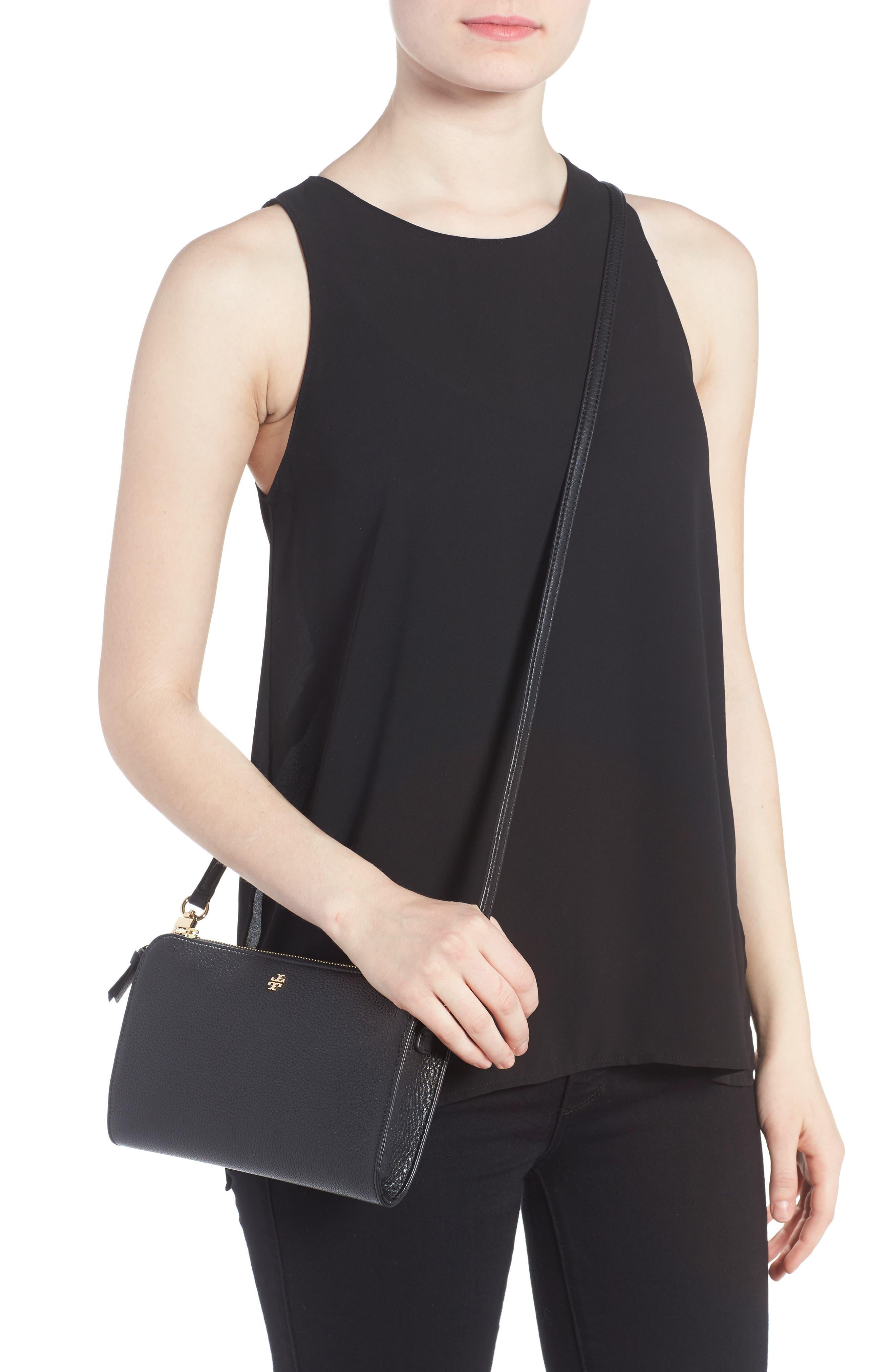 Robinson Leather Wallet/Crossbody Bag,                             Alternate thumbnail 2, color,                             Black