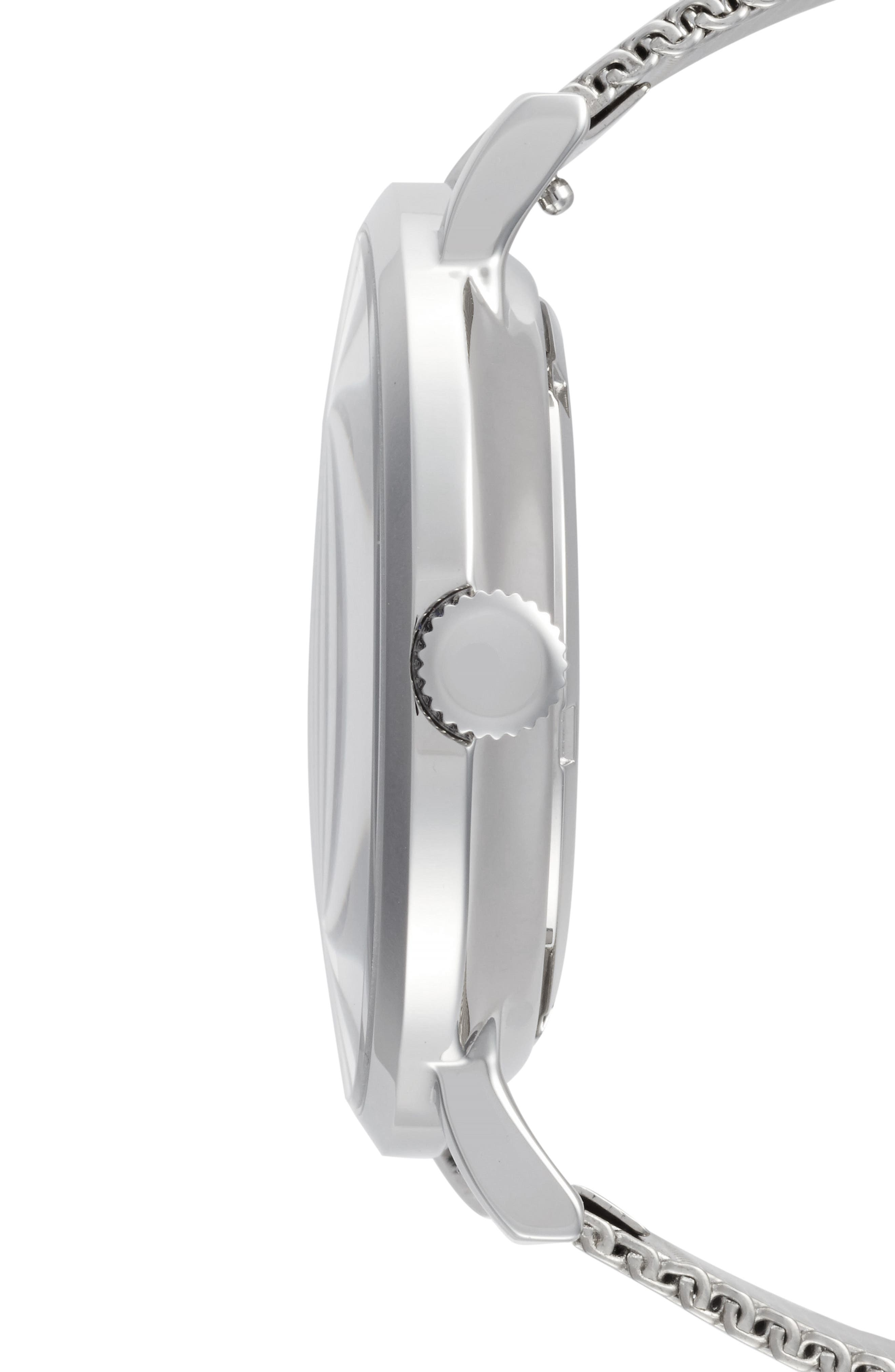 1.0 Mesh Strap Watch, 40mm,                             Alternate thumbnail 3, color,                             Silver/ Black