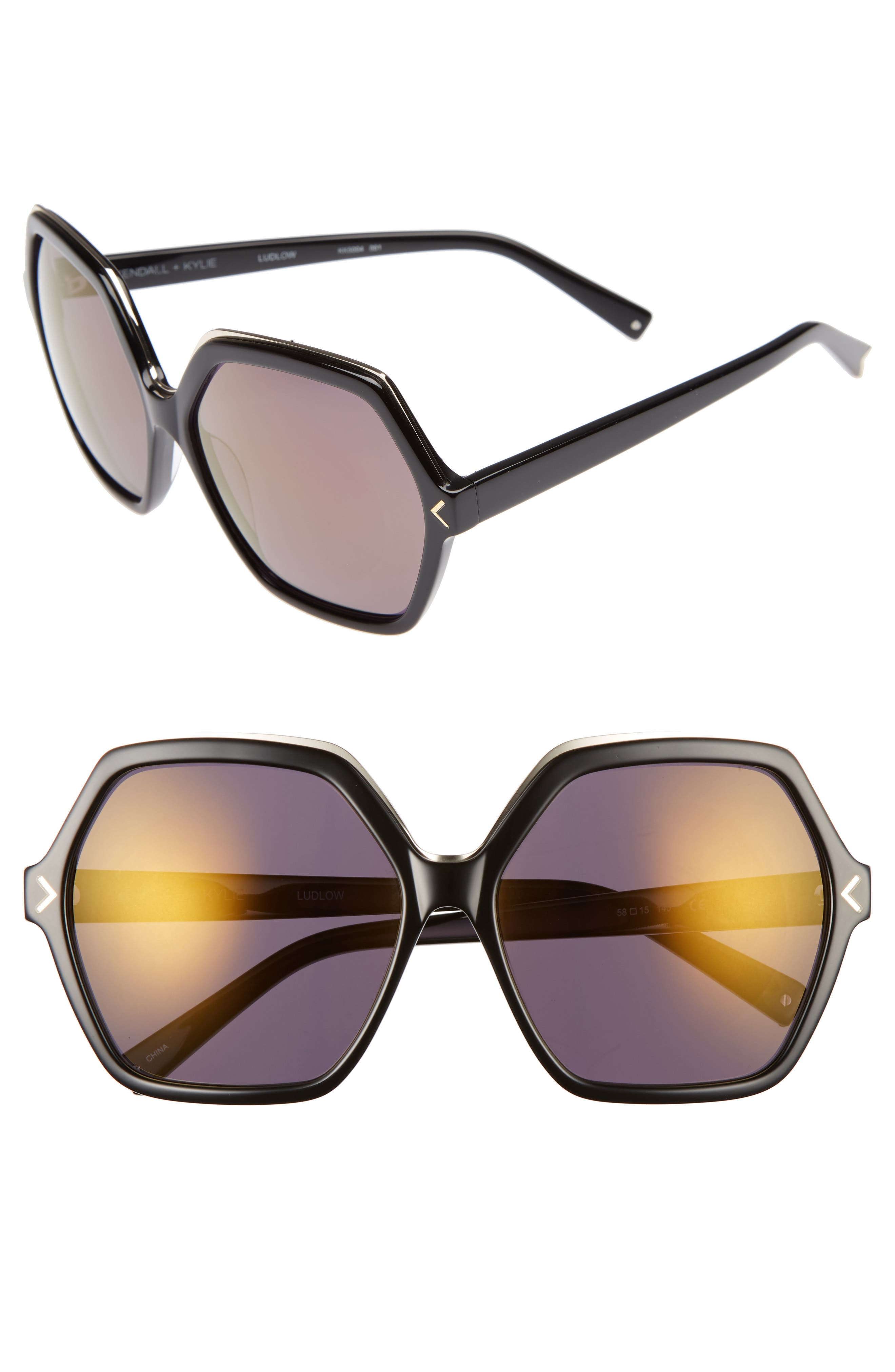 KENDALL + KYLIE Ludlow 58mm Sunglasses