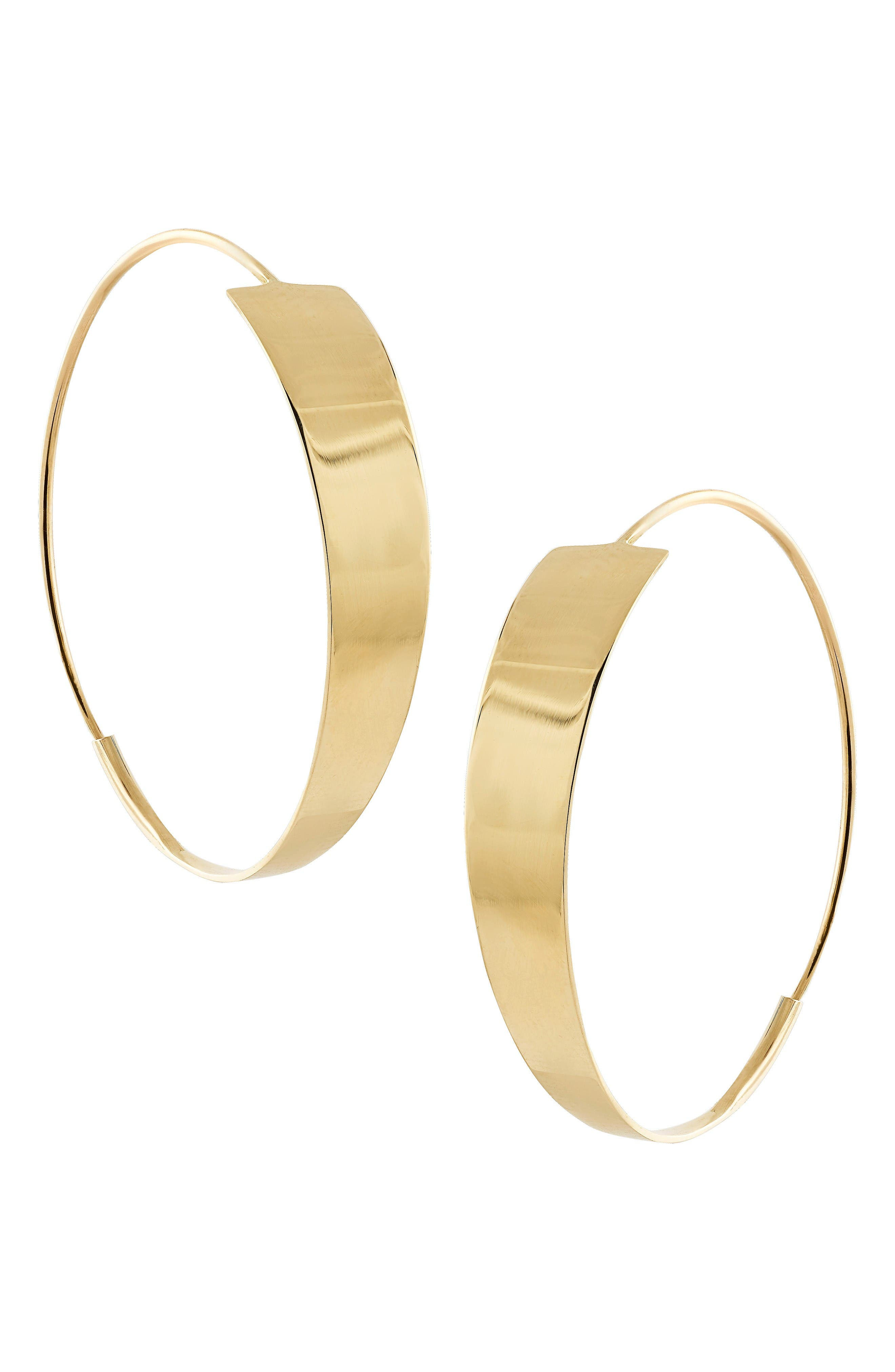 Bond Small Magic Hoop Earrings,                             Main thumbnail 1, color,                             Yellow Gold