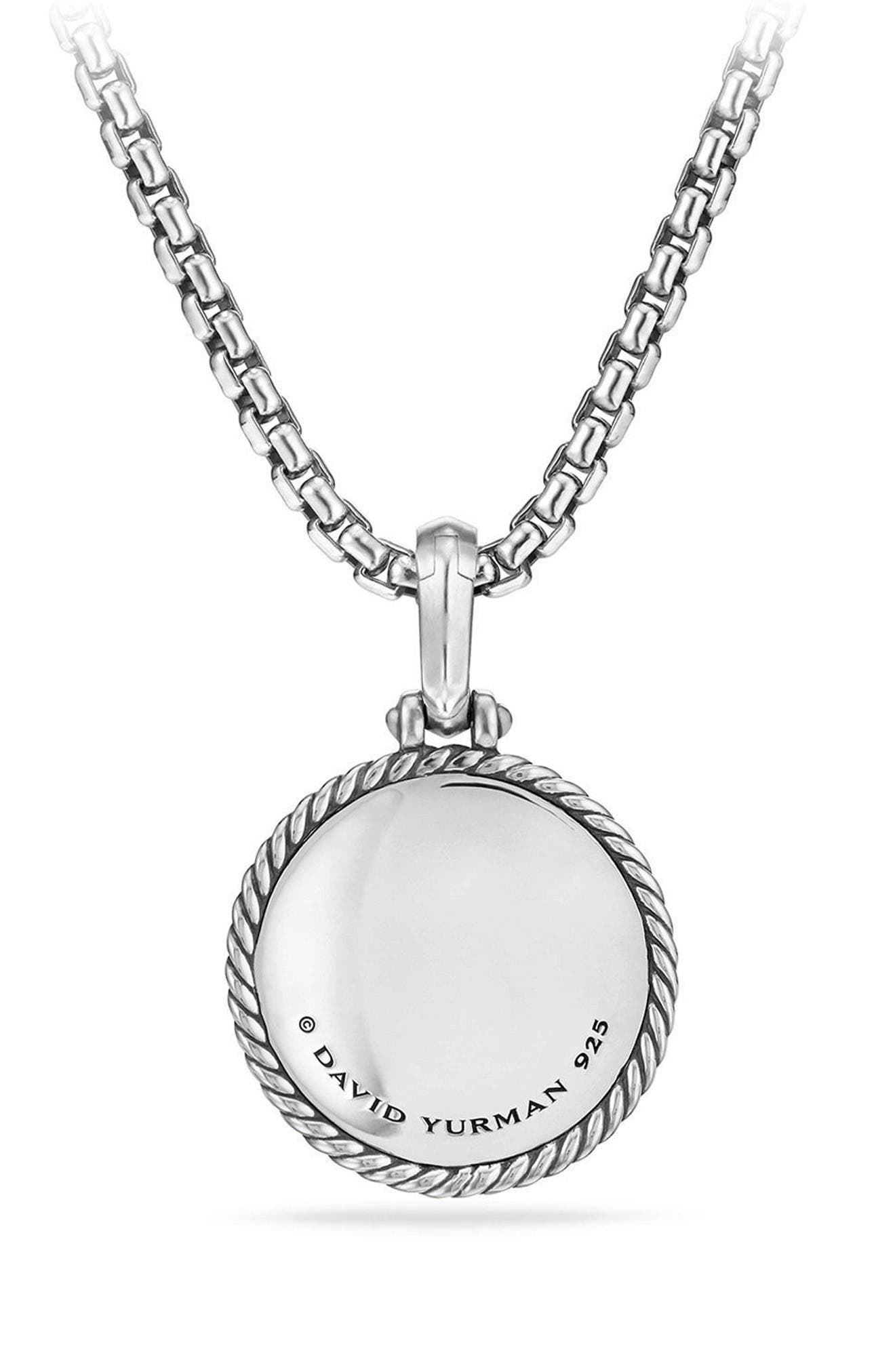 Moon & Star Amulet with Diamonds & 18K Gold,                             Alternate thumbnail 2, color,                             Silver/ Diamond