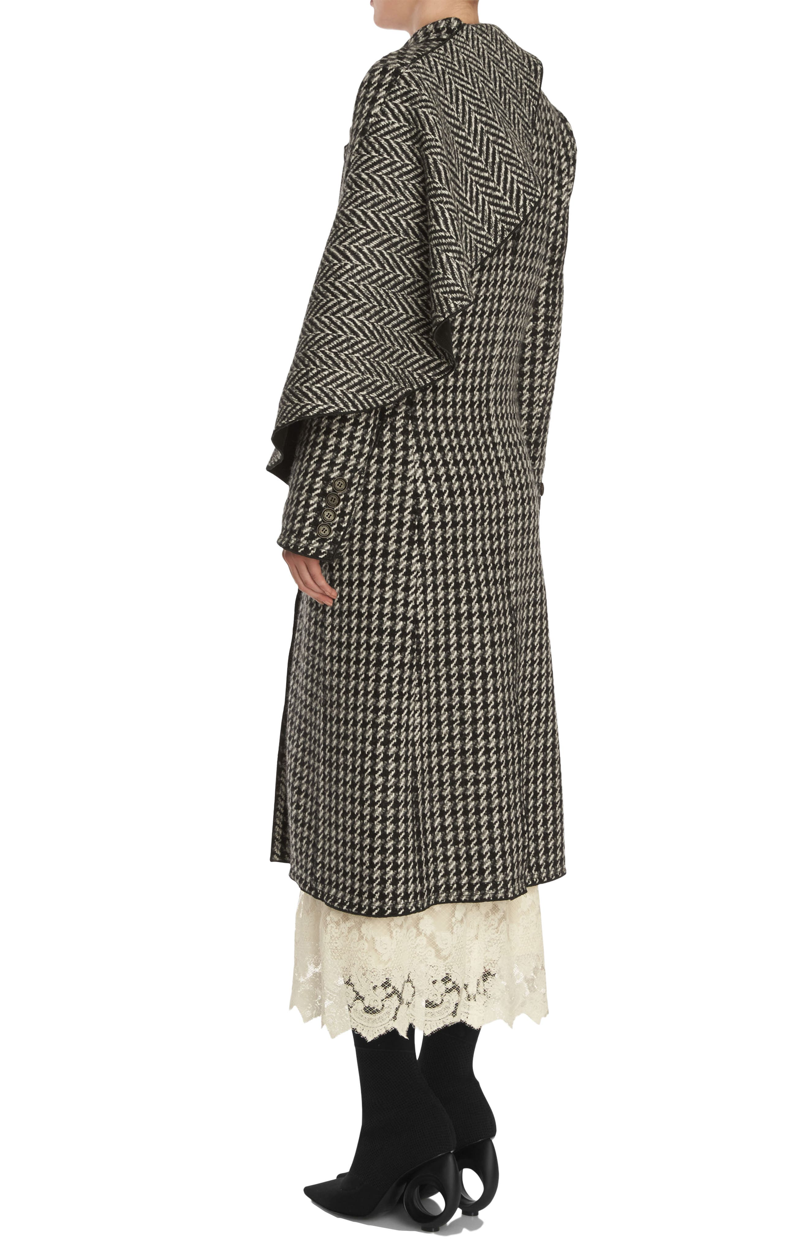 Alternate Image 4  - Burberry Houndstooth Wool Coat