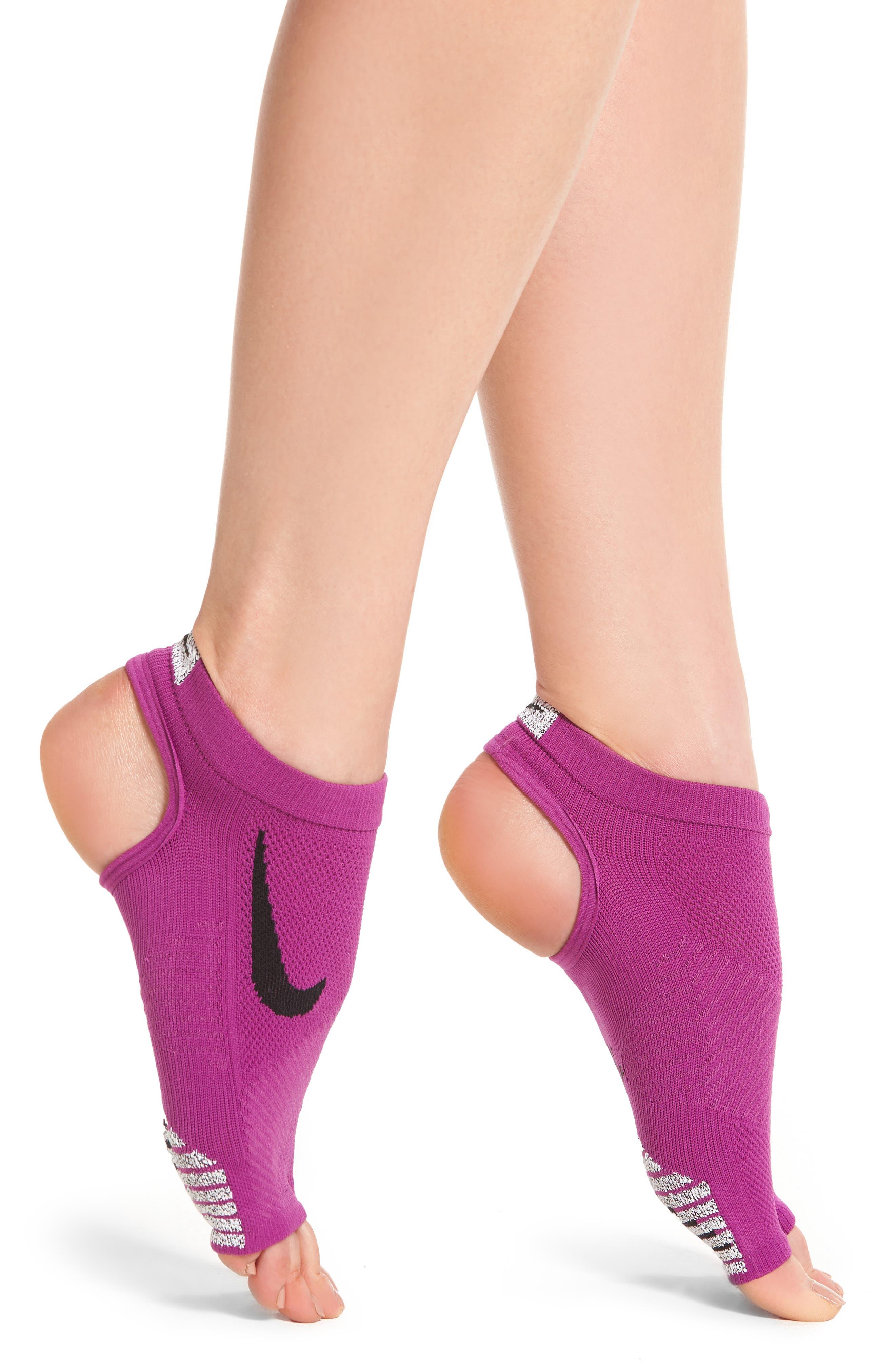 Elite Studio Stability Training Grip Socks,                         Main,                         color, Purple