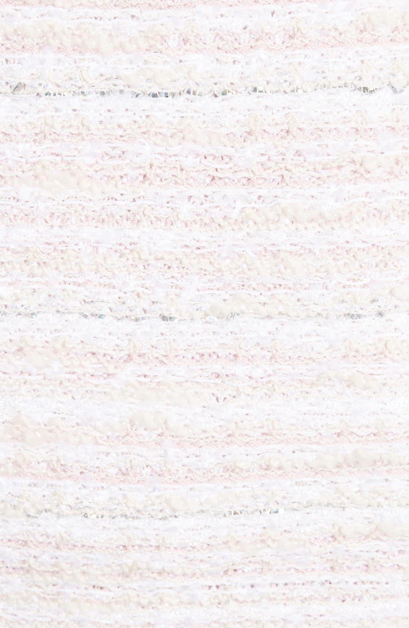 Padmesh Tweed Knit Skirt,                             Alternate thumbnail 5, color,                             Petal Multi