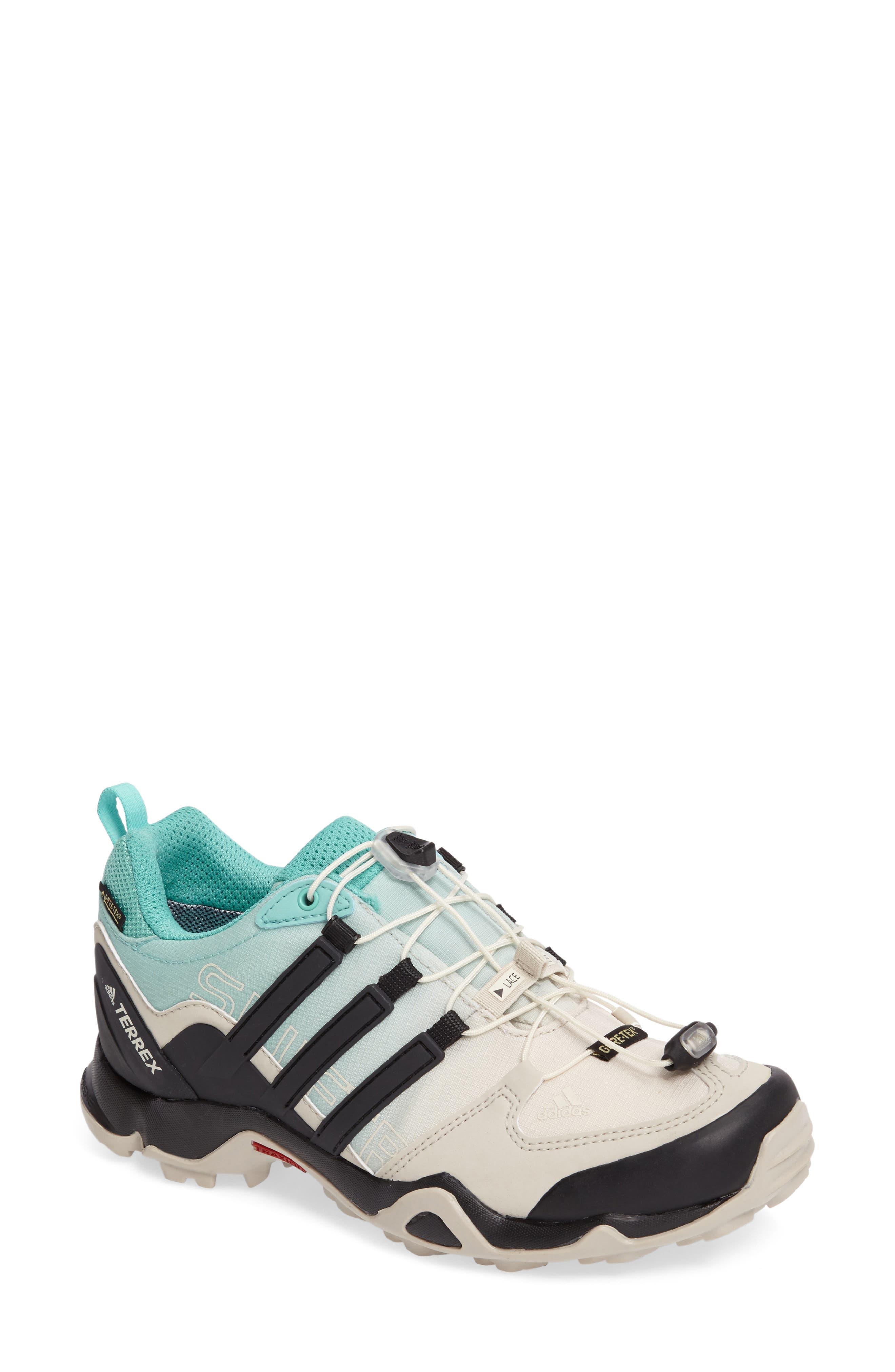 Terrex Swift R GTX Hiking Shoe,                             Main thumbnail 1, color,                             Clear Brown/ Black/ Easy Mint