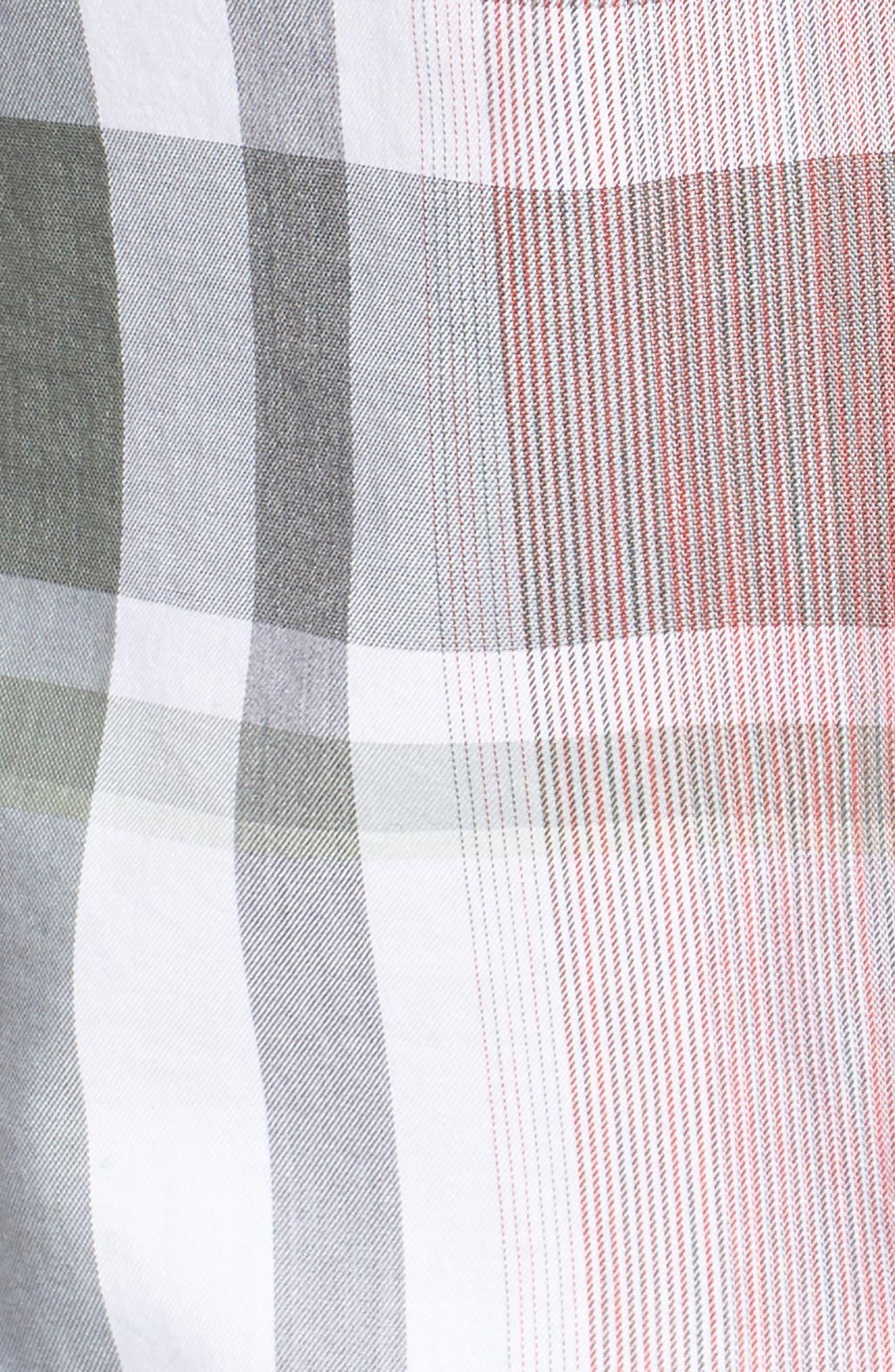 Robb Sharp Fit Plaid Sport Shirt,                             Alternate thumbnail 5, color,                             Red