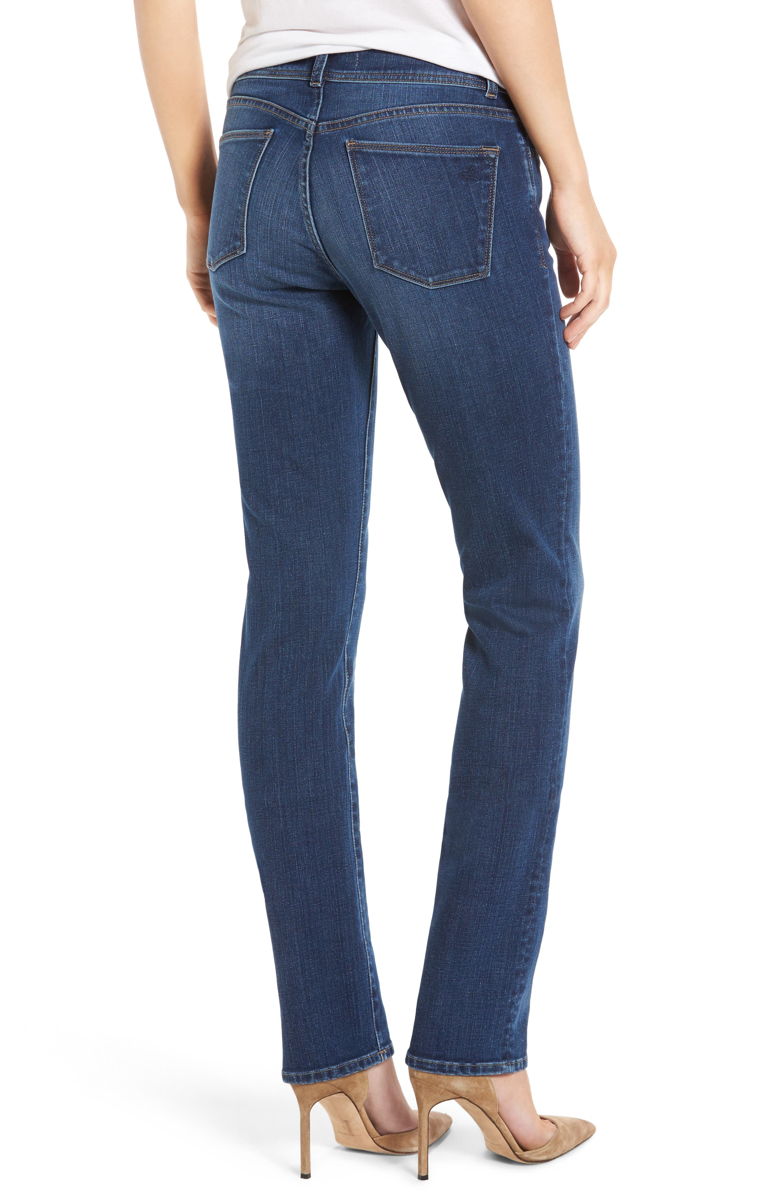 Coco Curvy Straight Leg Jeans,                             Alternate thumbnail 2, color,                             Pacific
