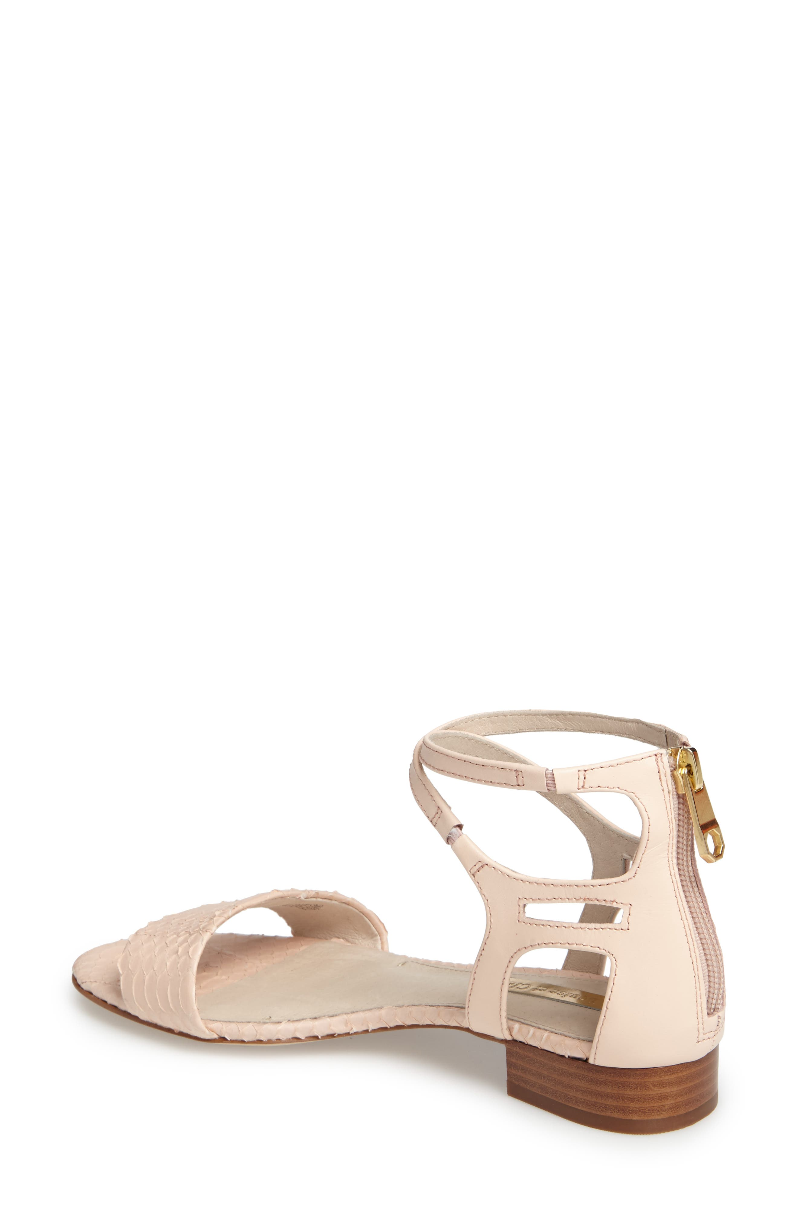 Adley Ankle Strap Sandal,                             Alternate thumbnail 2, color,                             Mimosa Leather