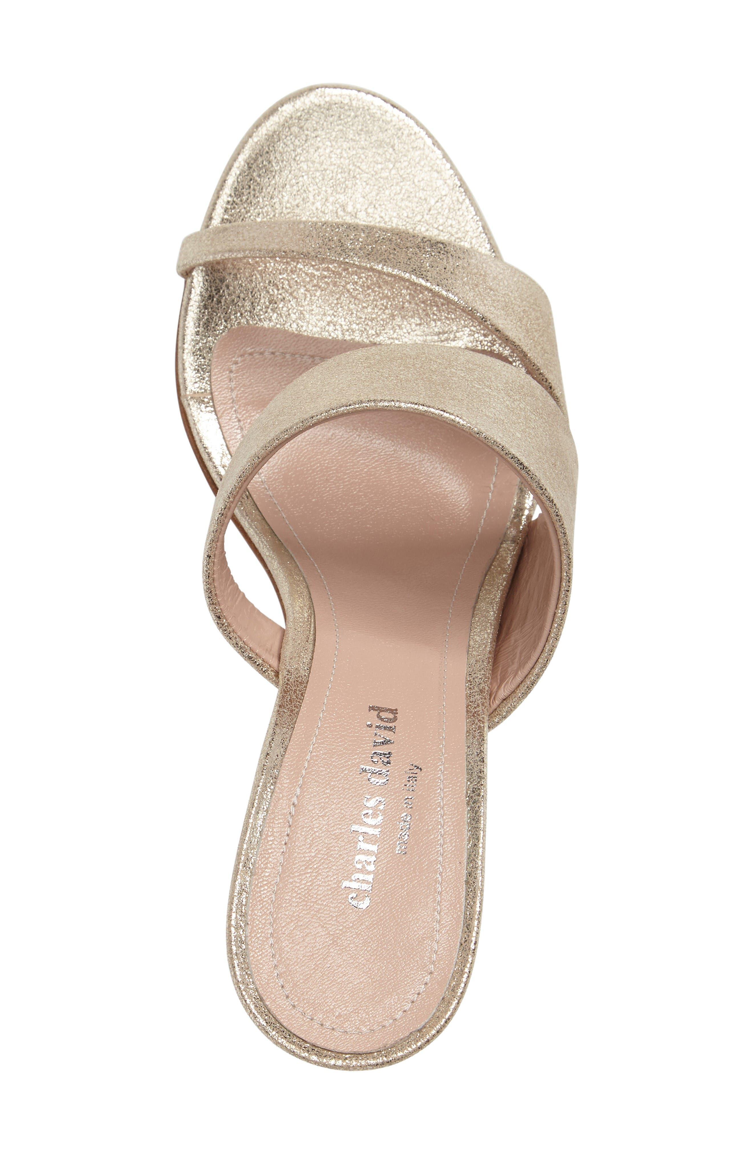 Status Sandal,                             Alternate thumbnail 3, color,                             Champagne Leather