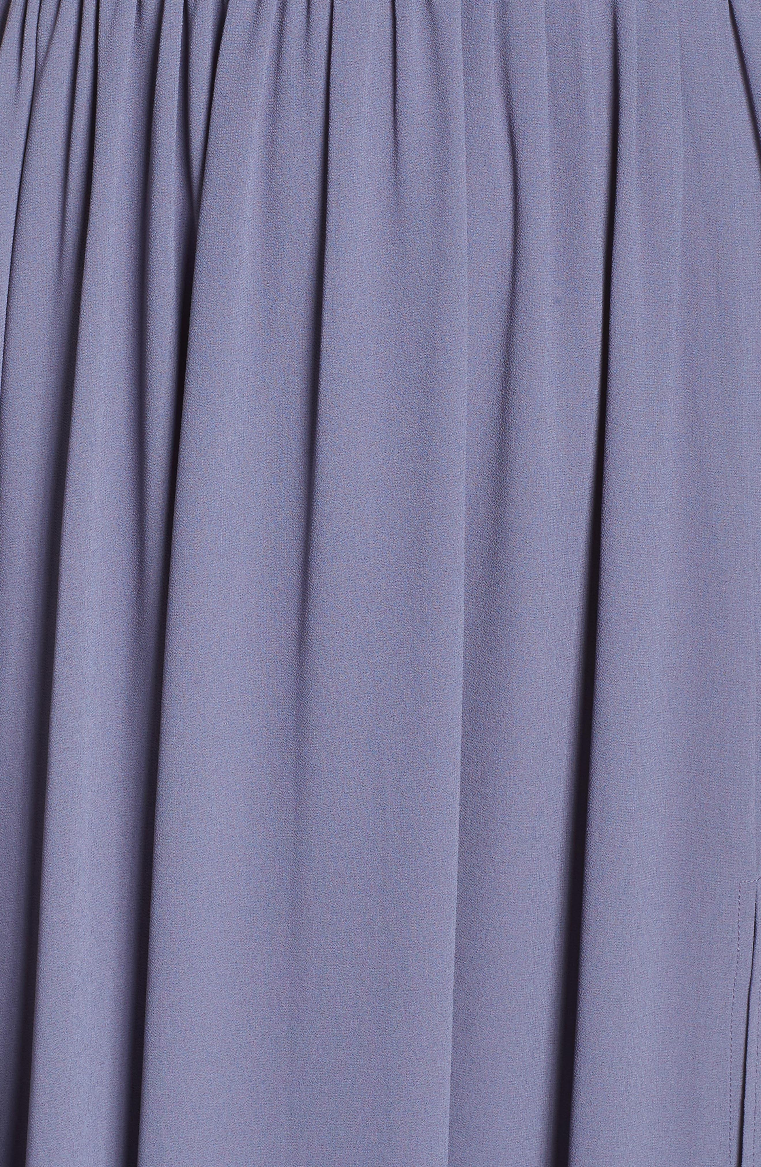 Alternate Image 5  - Lulus Plunging V-Neck Chiffon Gown