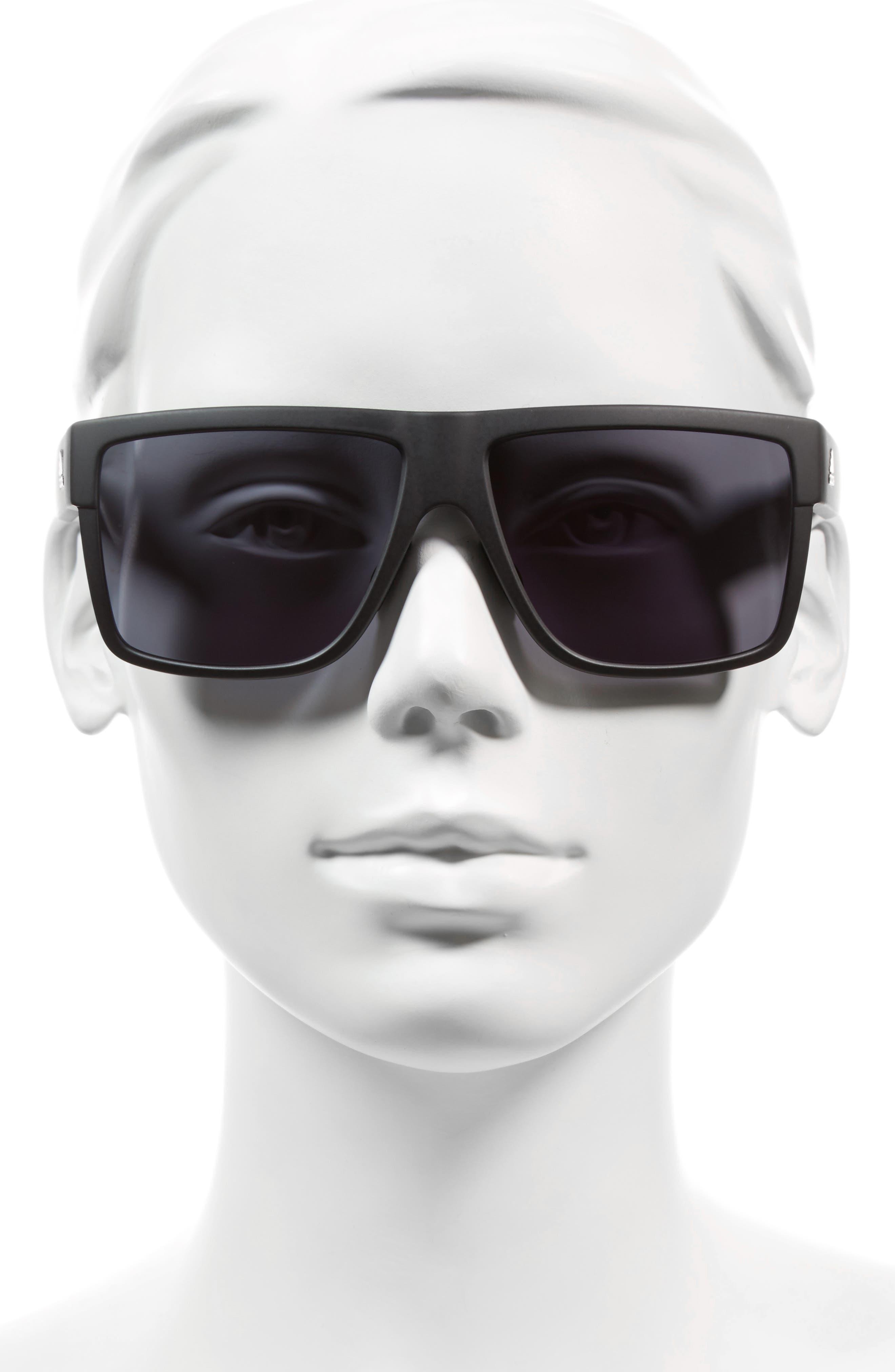 3Matic 60mm Sunglasses,                             Alternate thumbnail 2, color,                             Black Matte/ Grey
