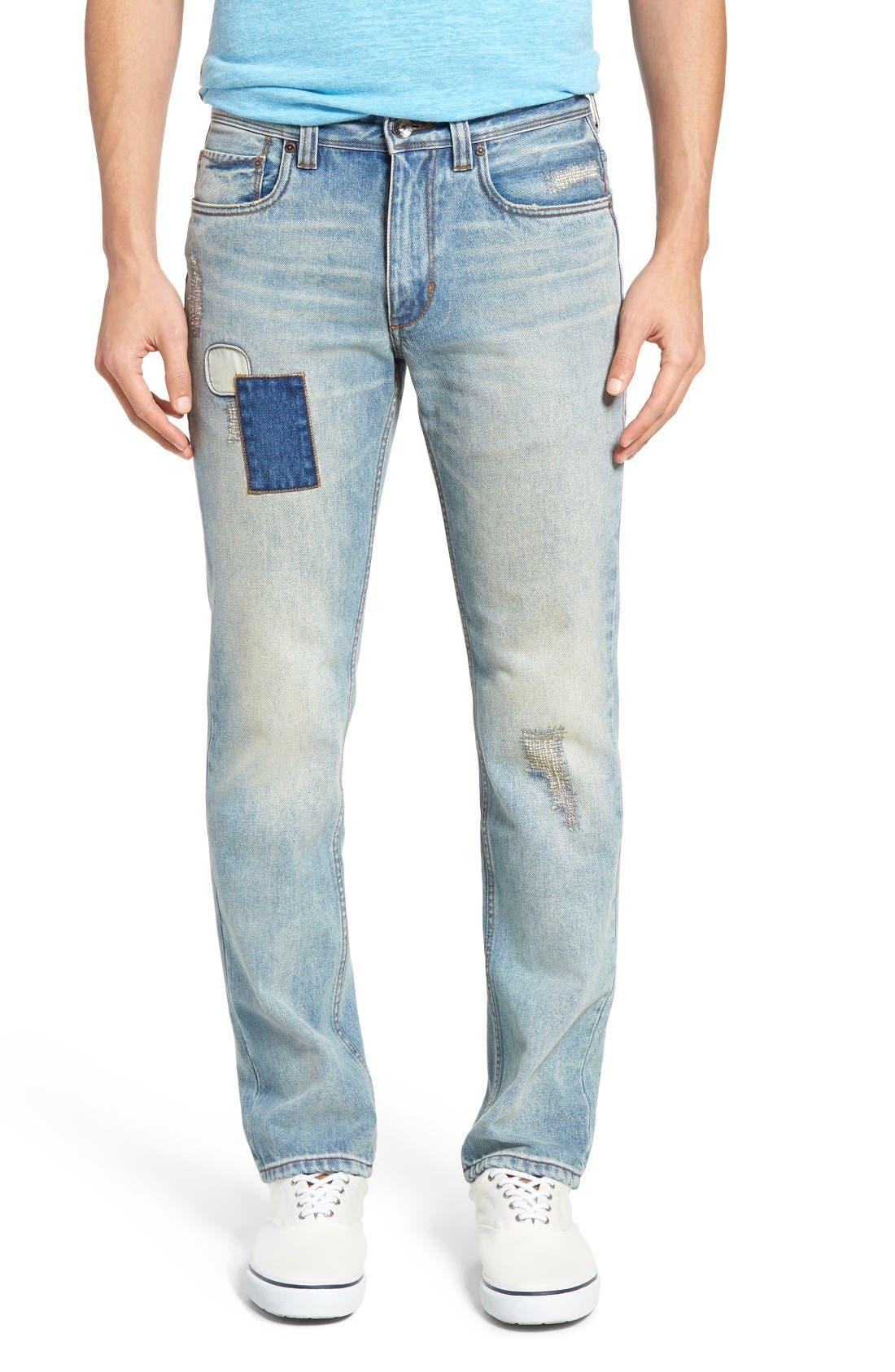 Castaway Slim Fit Jeans,                             Main thumbnail 1, color,                             Bleached Vintage Wash