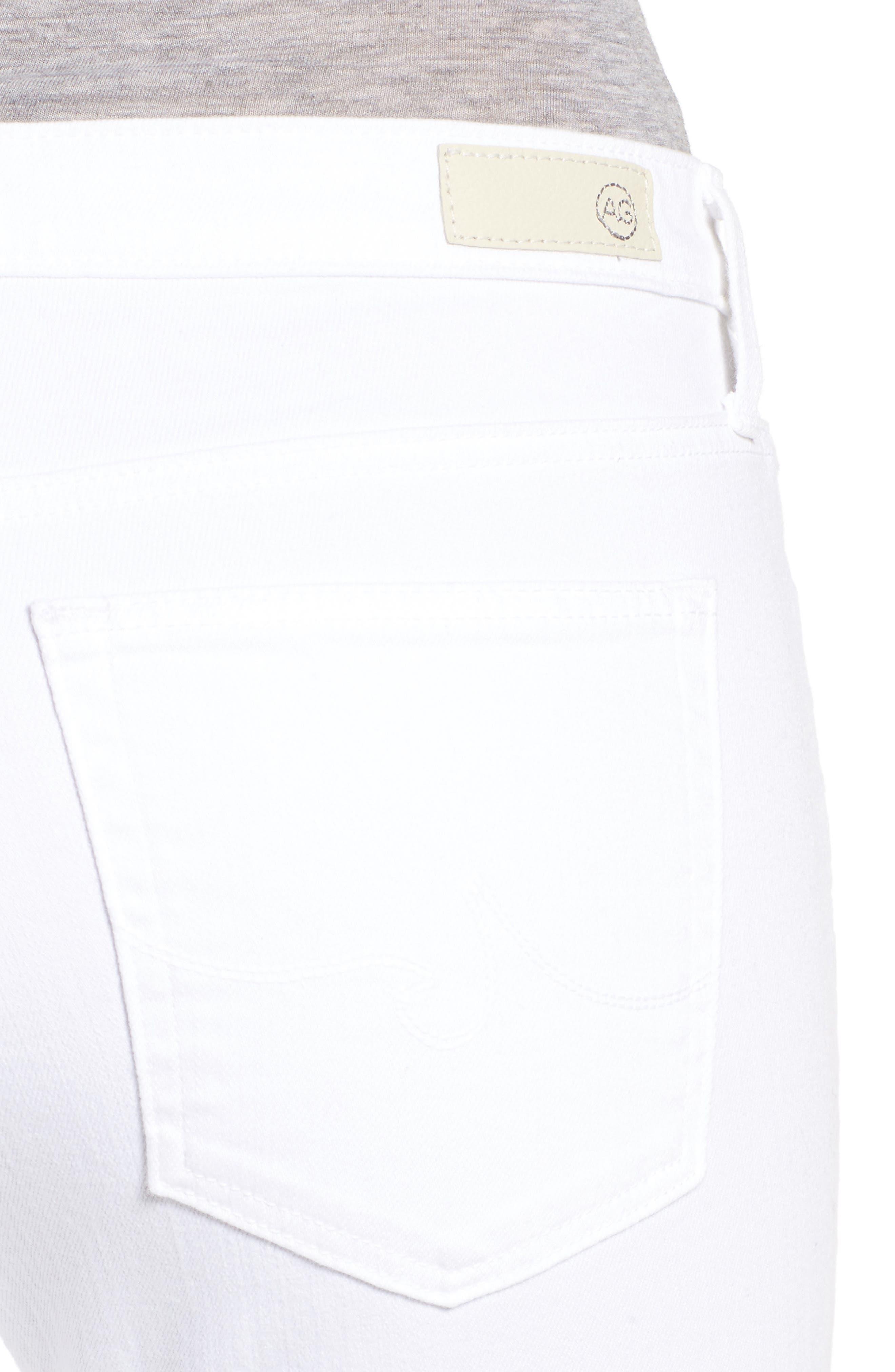 Prima Cigarette Leg Skinny Jeans,                             Alternate thumbnail 4, color,                             White