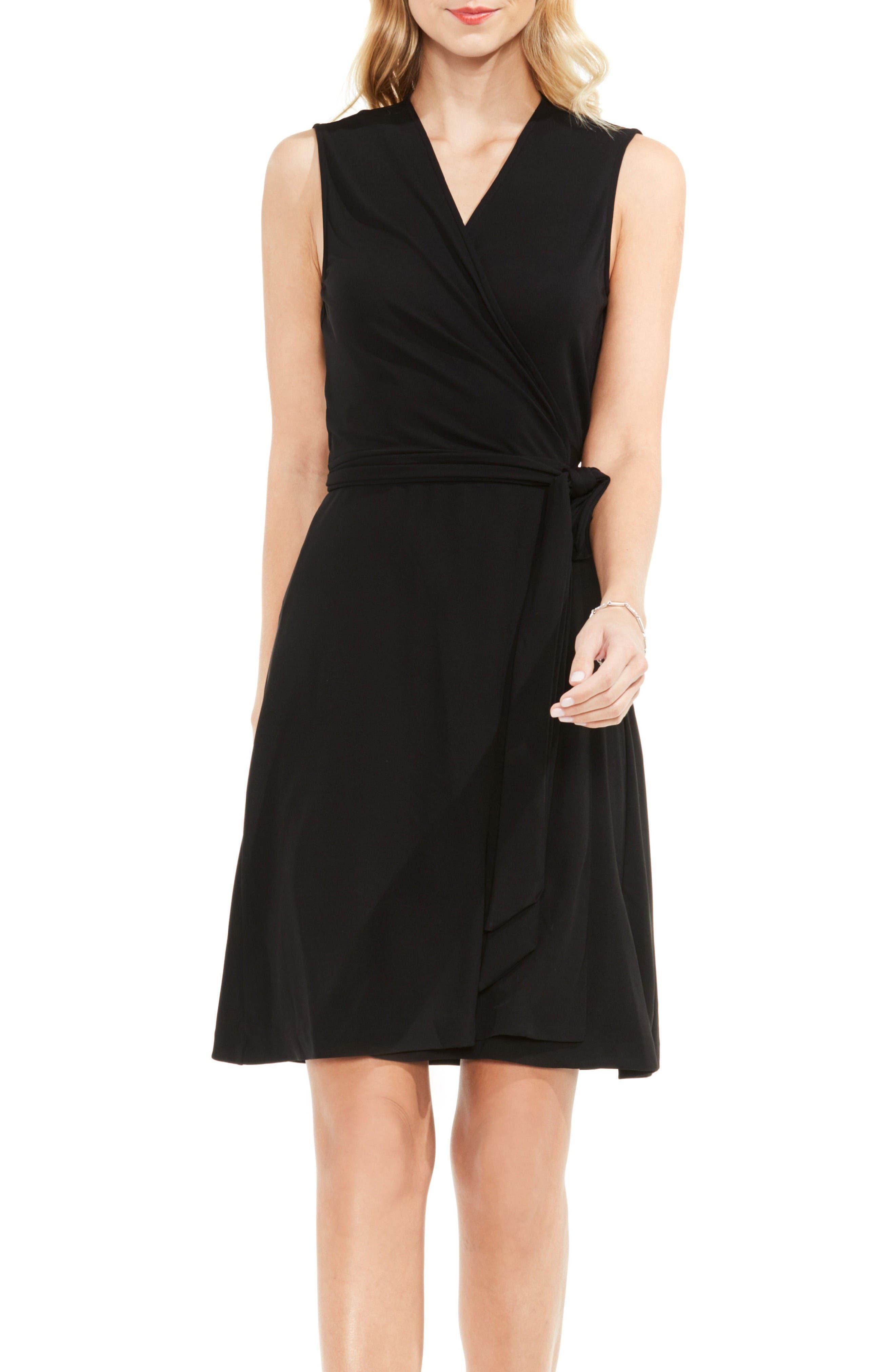 Wrap Dress,                         Main,                         color, Rich Black