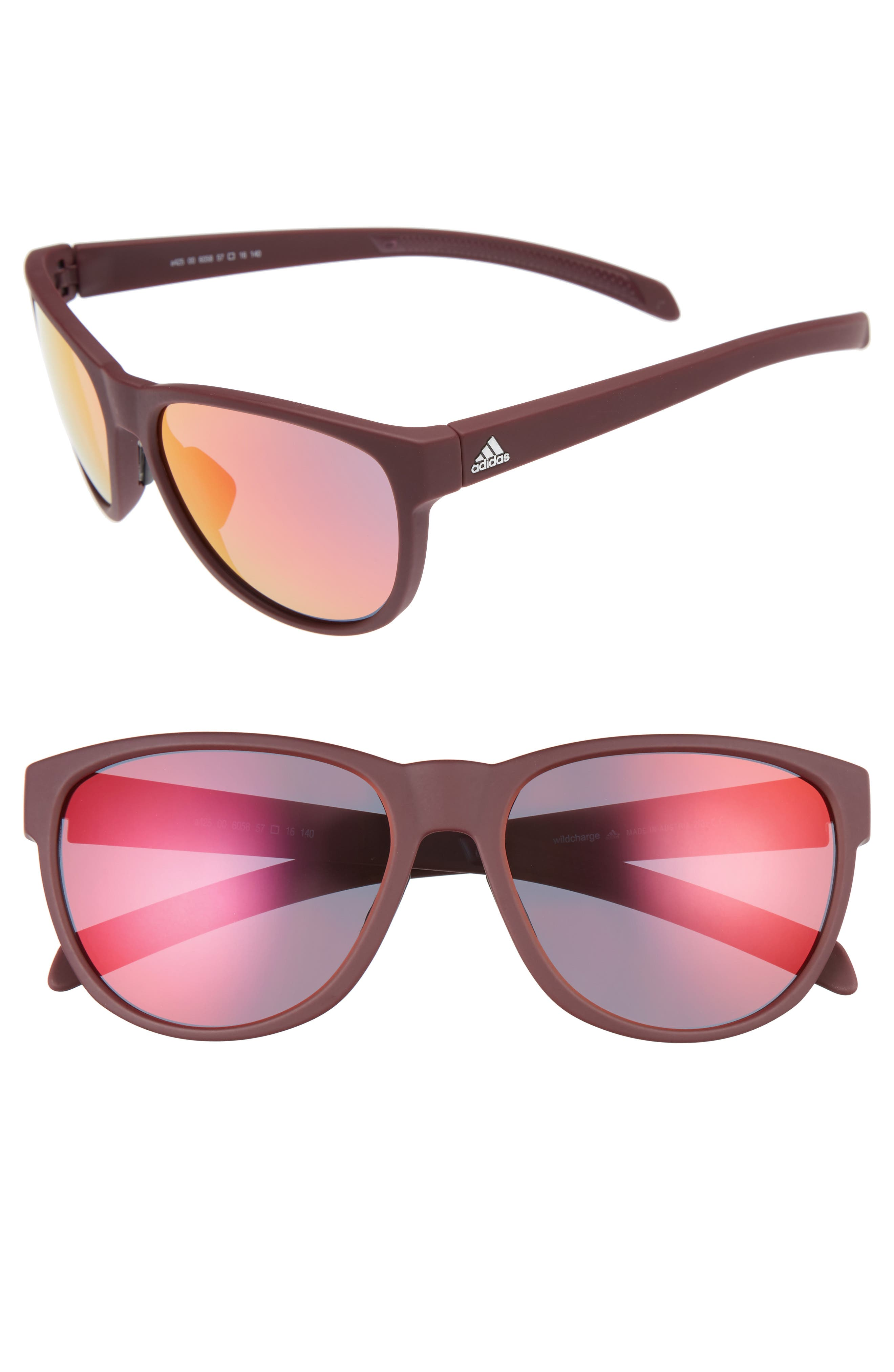 adidas Wildcharge 61mm Mirrored Sunglasses