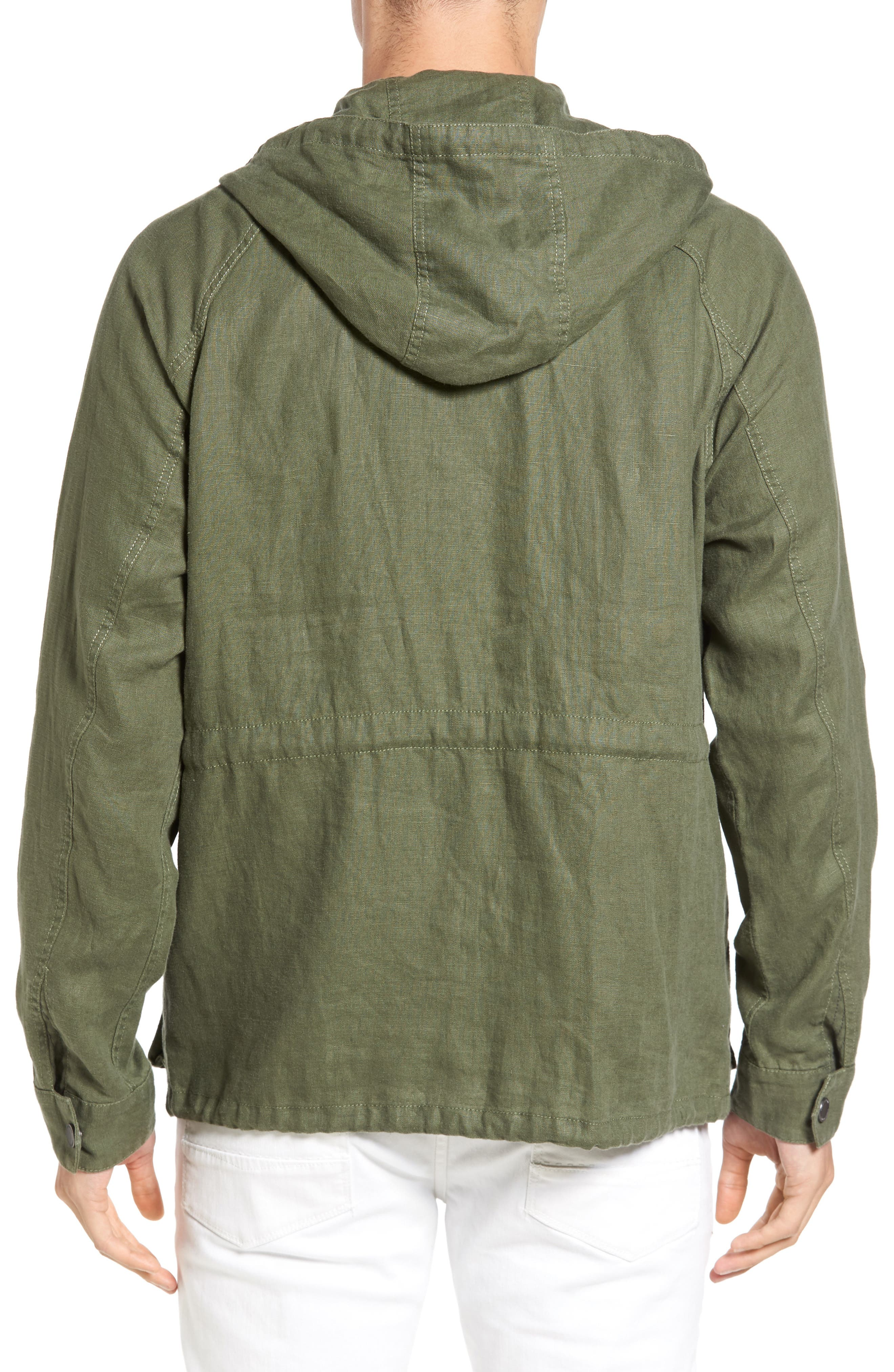 Alternate Image 2  - Tommy Bahama Harbor Linen Hooded Jacket