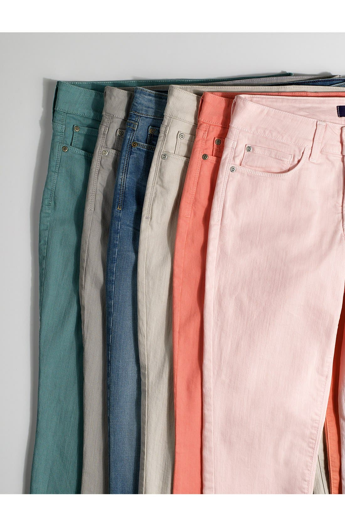 Alina Roll Cuff Stretch Ankle Skinny Jeans,                             Alternate thumbnail 2, color,                             Pampelonne