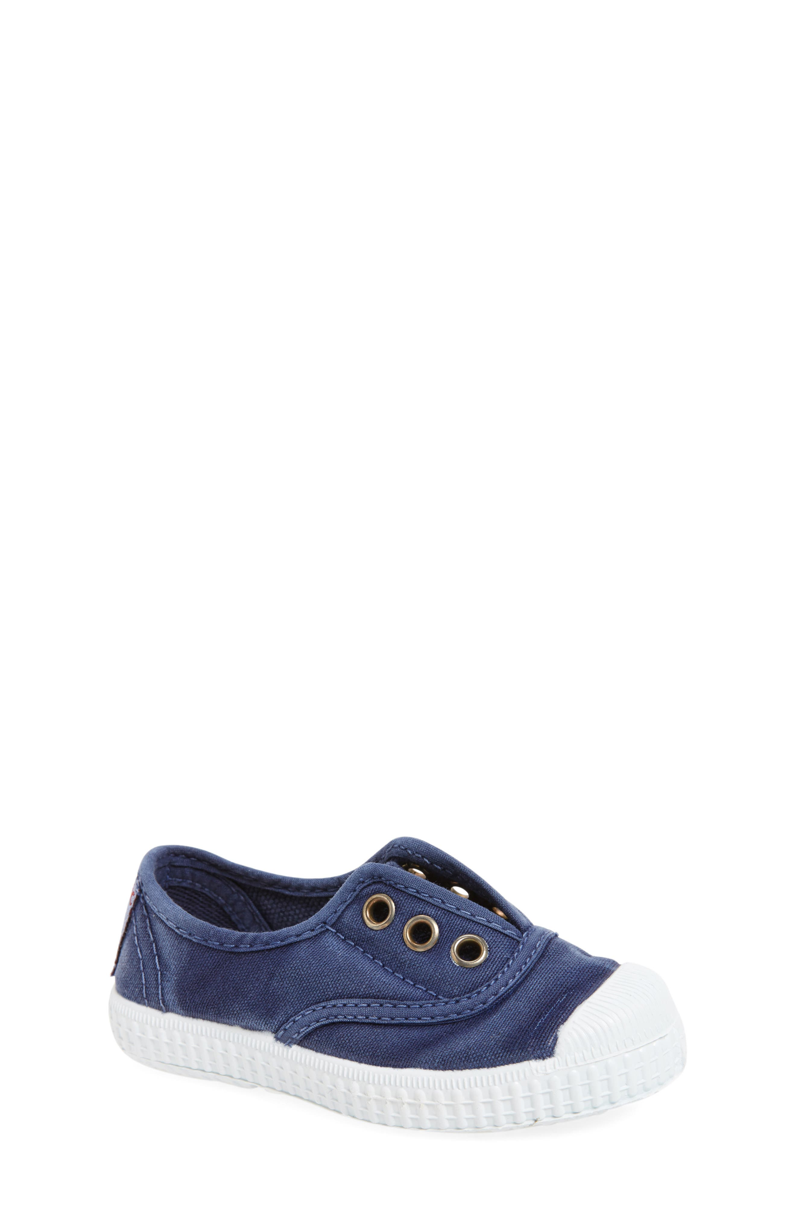 Laceless Slip-On Sneaker,                         Main,                         color, Navy