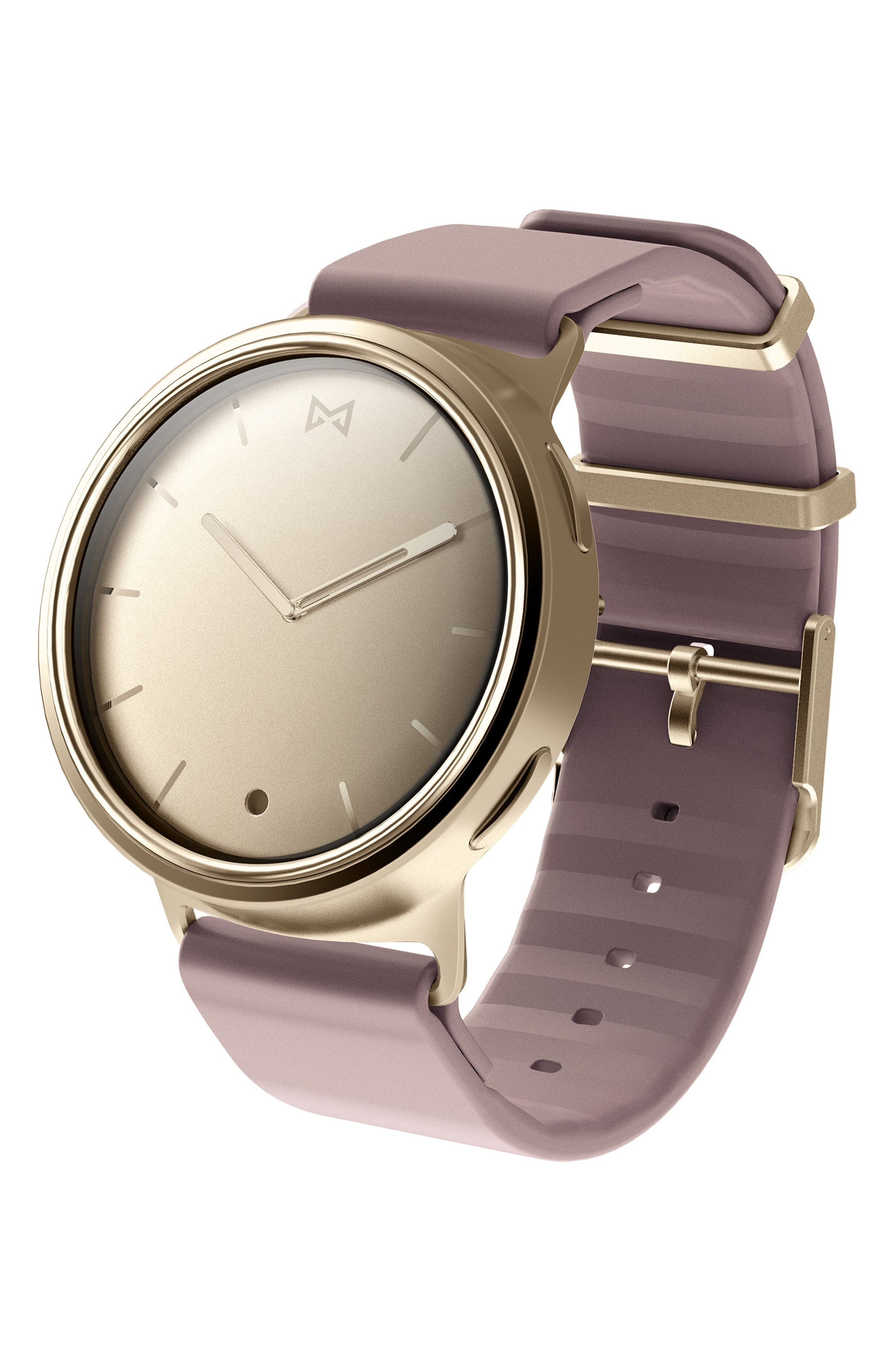 Phase Silicone Strap Smart Watch, 40mm,                         Main,                         color, Lavender/ Gold