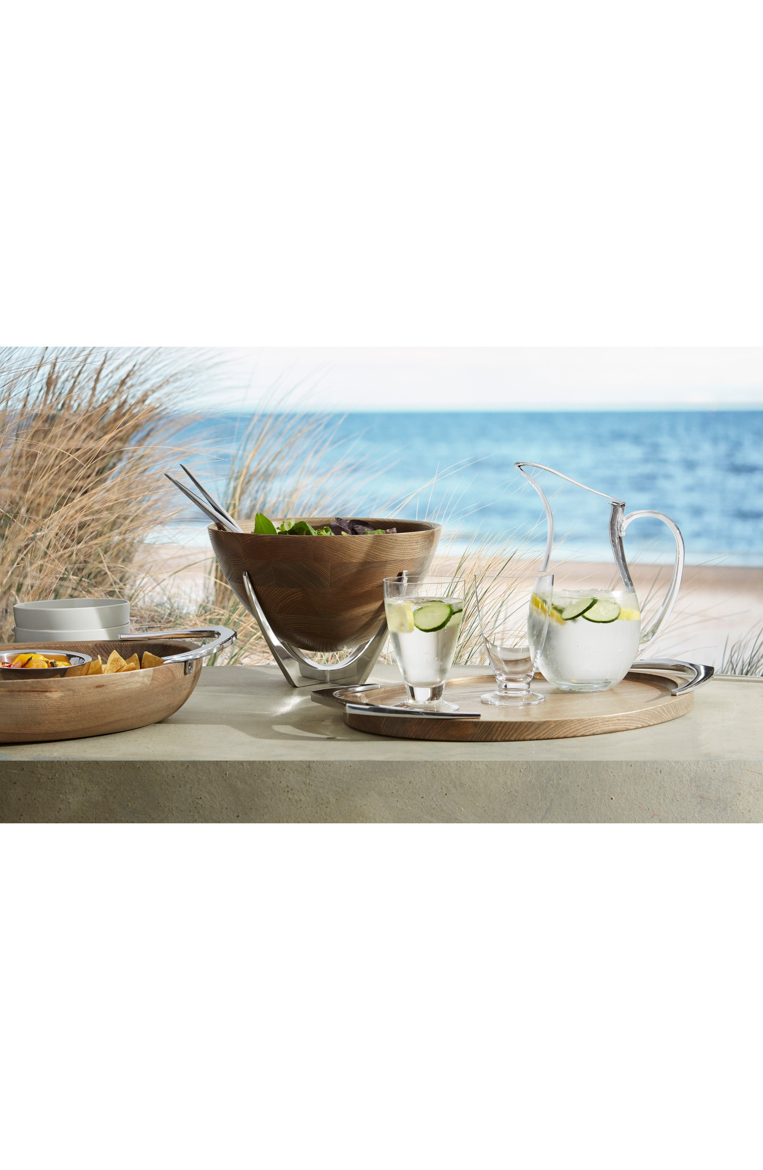 Cabo Salad Bowl & Servers Set,                             Alternate thumbnail 3, color,                             Brown