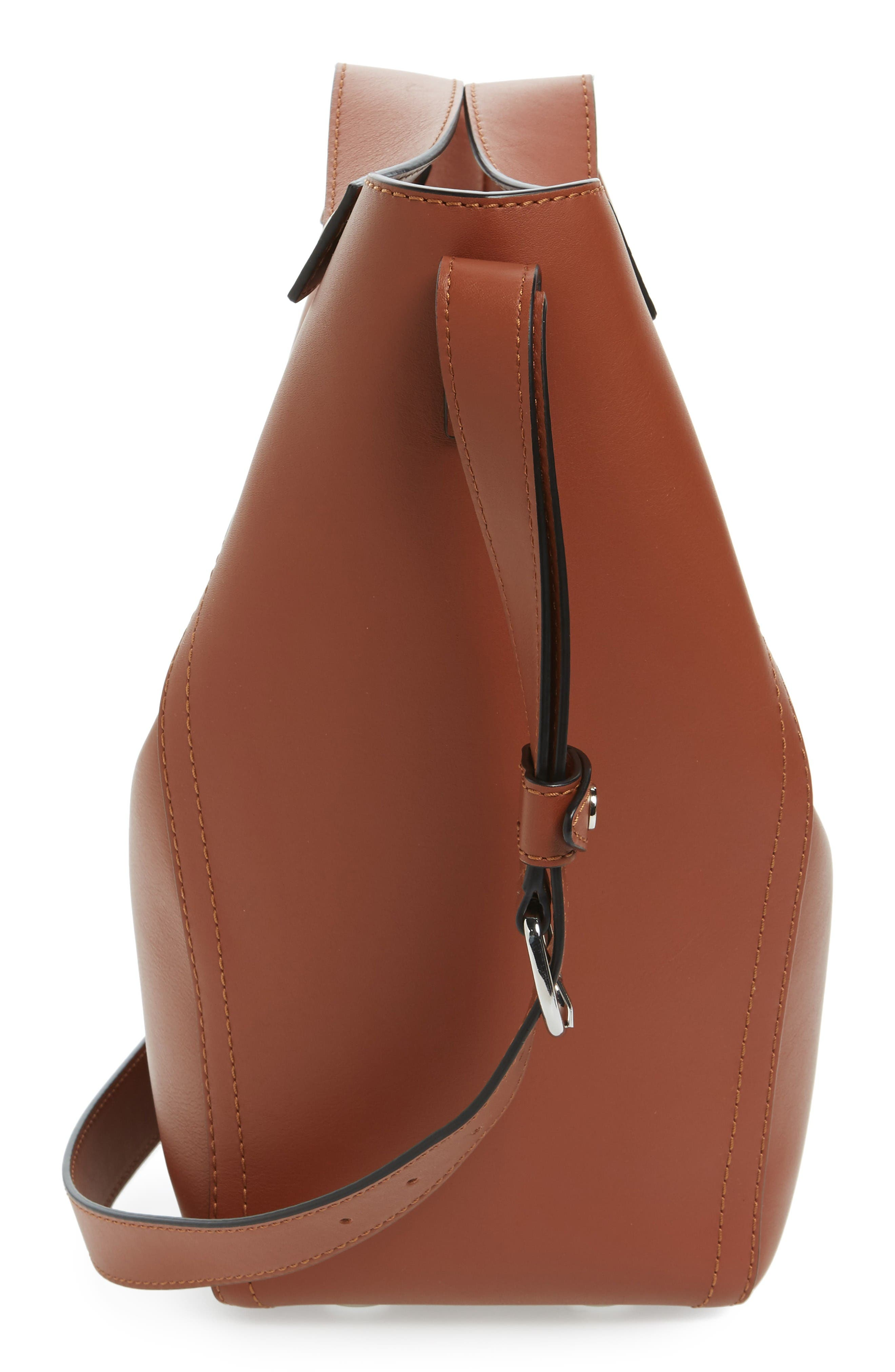 Large Dolly Leather Tote,                             Alternate thumbnail 5, color,                             Sequoia
