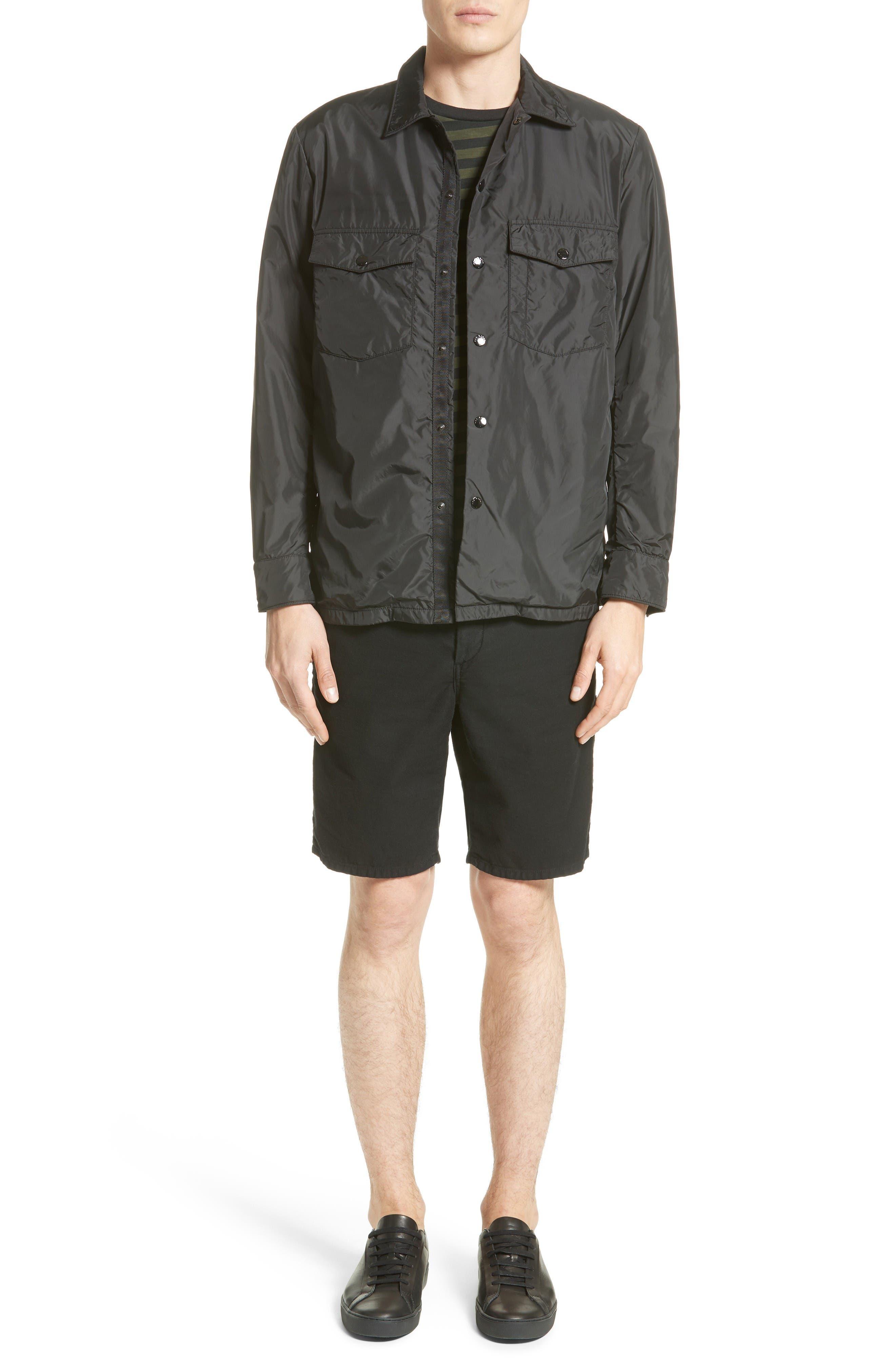 Blake Stripe T-Shirt,                             Alternate thumbnail 6, color,                             Dark Olive/ Black
