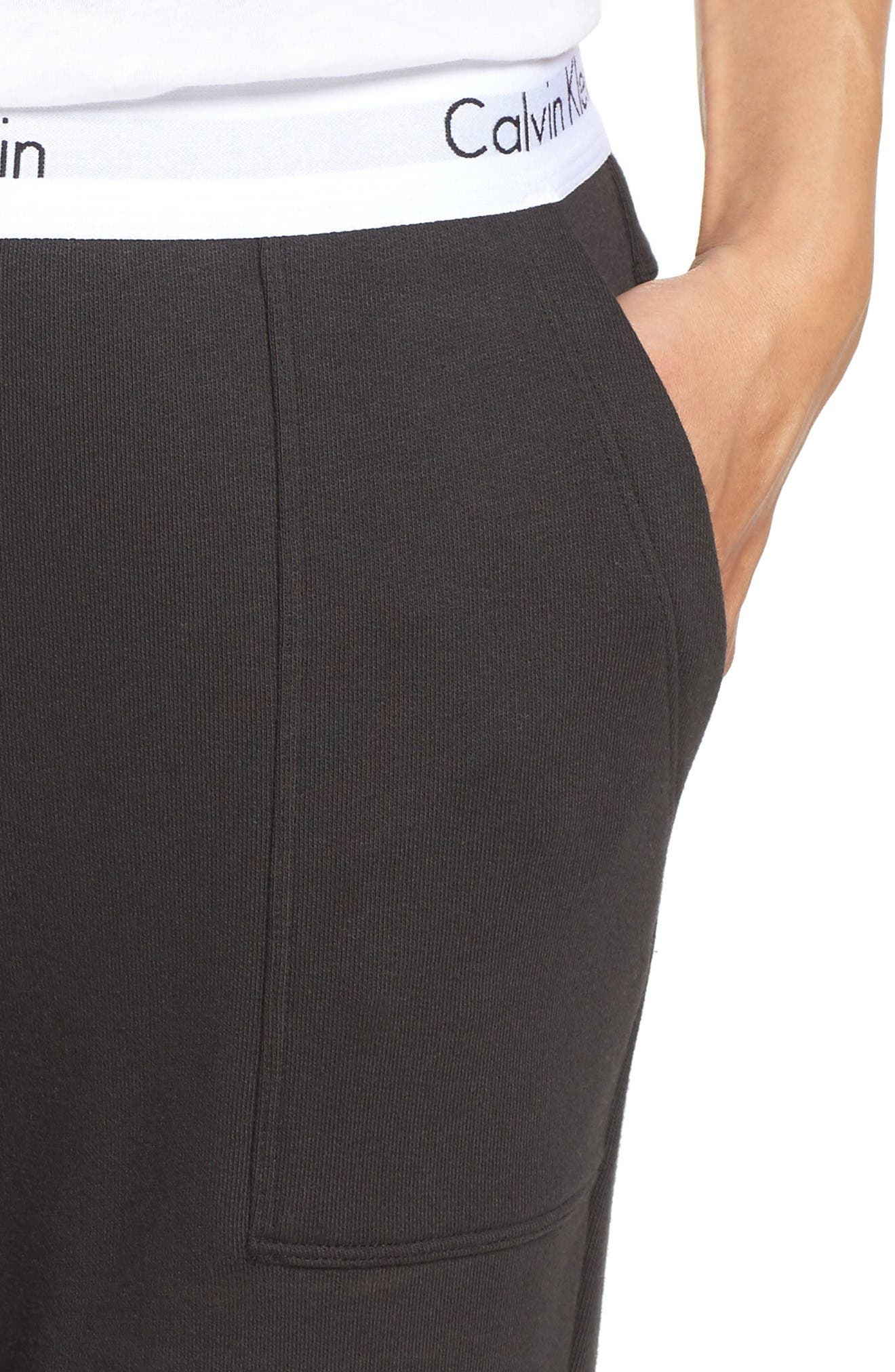 Lounge Jogger Pants,                             Alternate thumbnail 4, color,                             Black