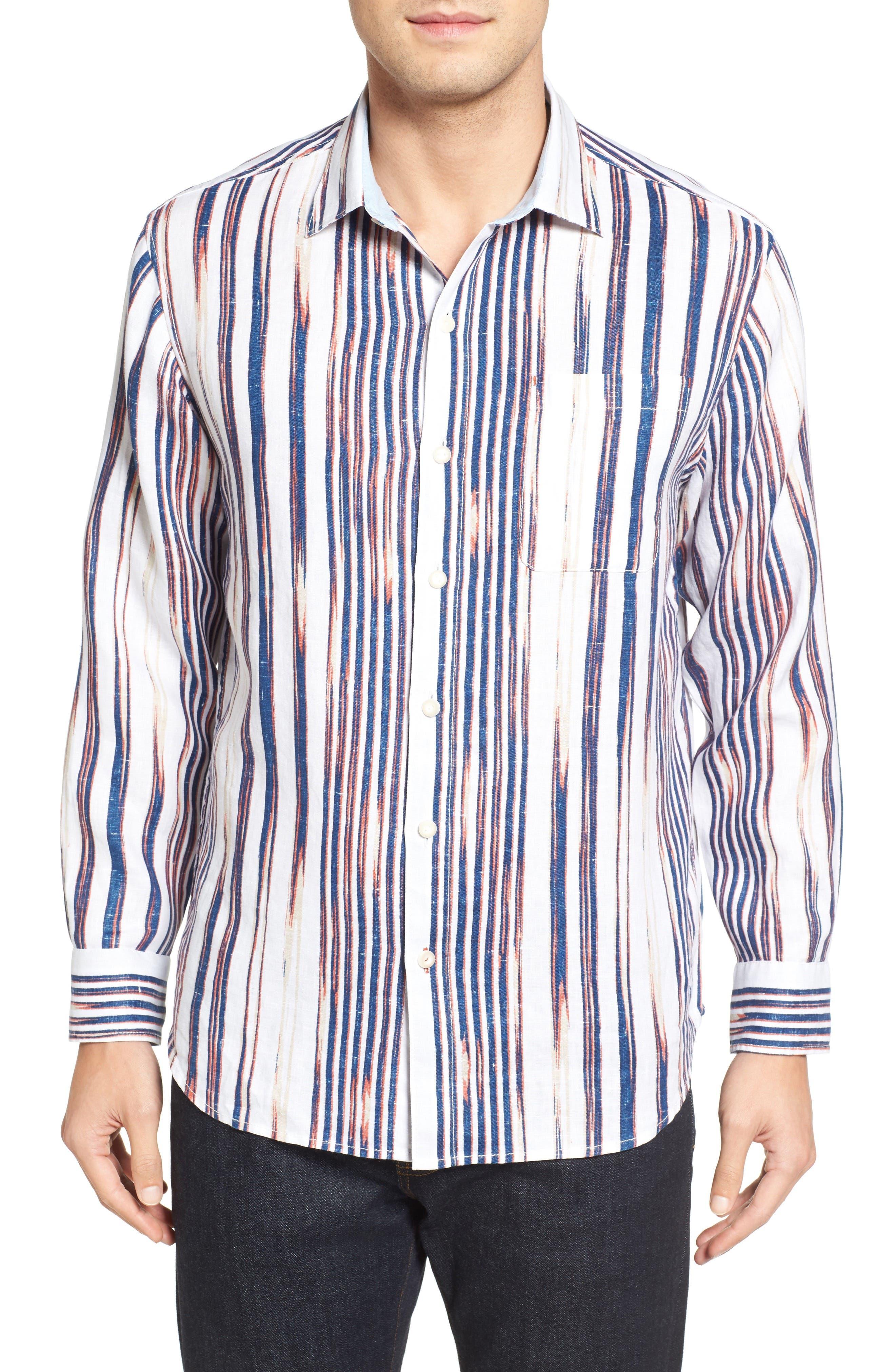 TOMMY BAHAMA Brush Stroke Breezer Linen Sport Shirt