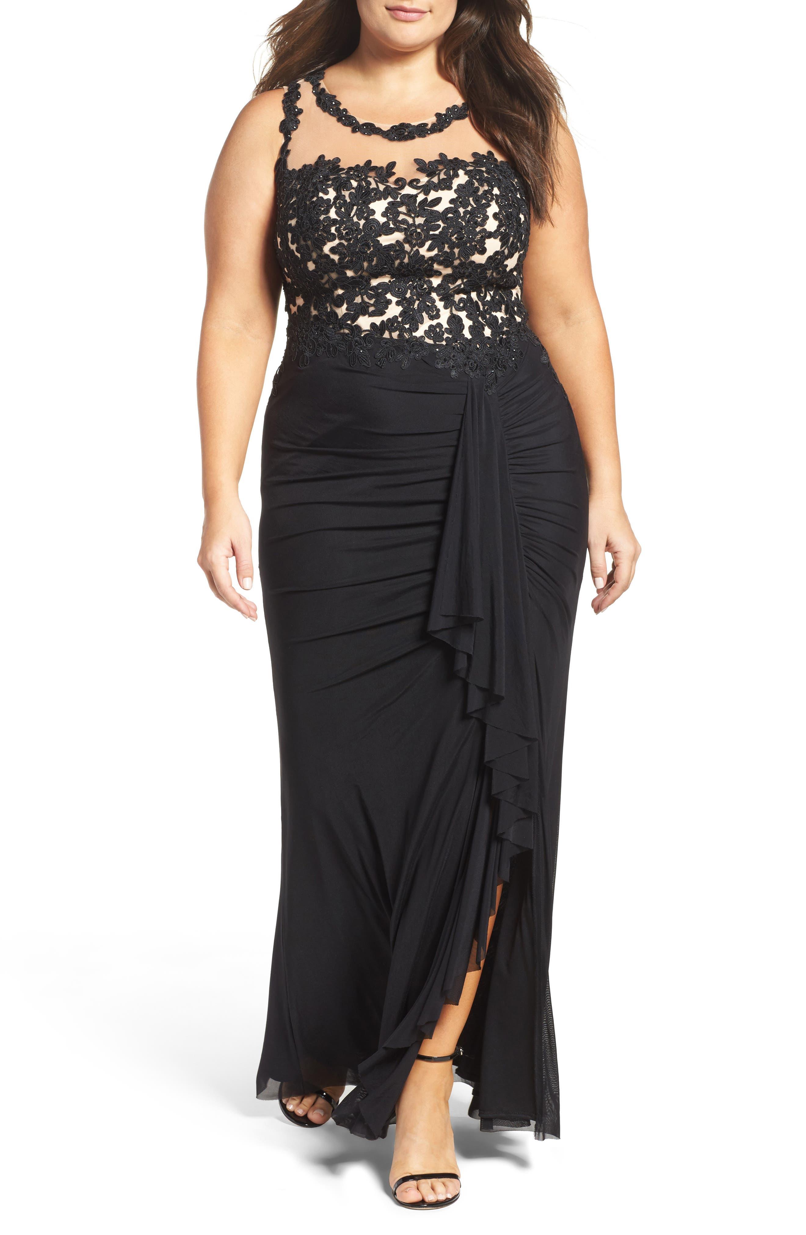 Decode 1.8 Illusion Lace Gown (Plus Size)
