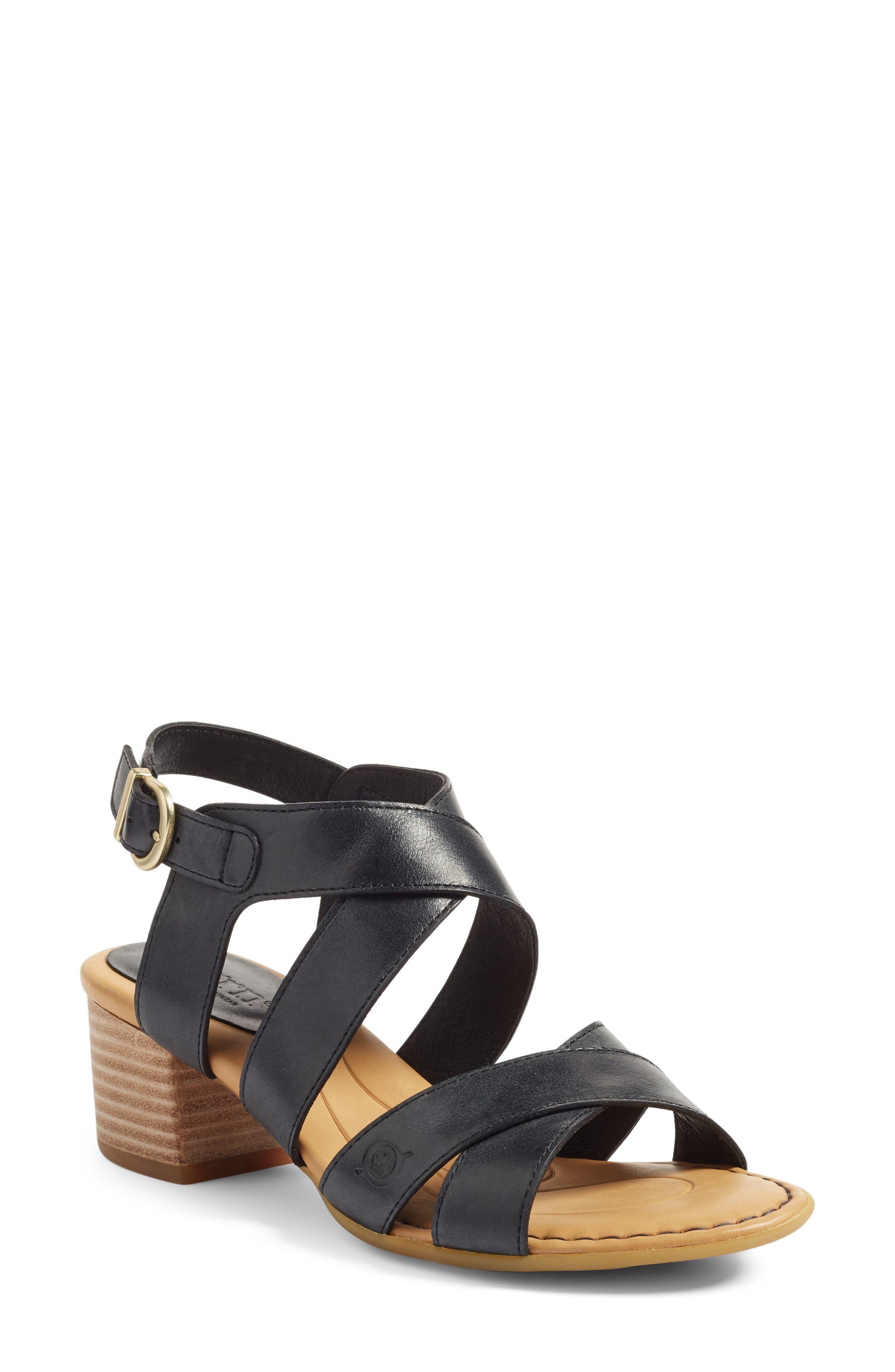 Alternate Image 1 Selected - Børn Alisha Block Heel Sandal (Women)