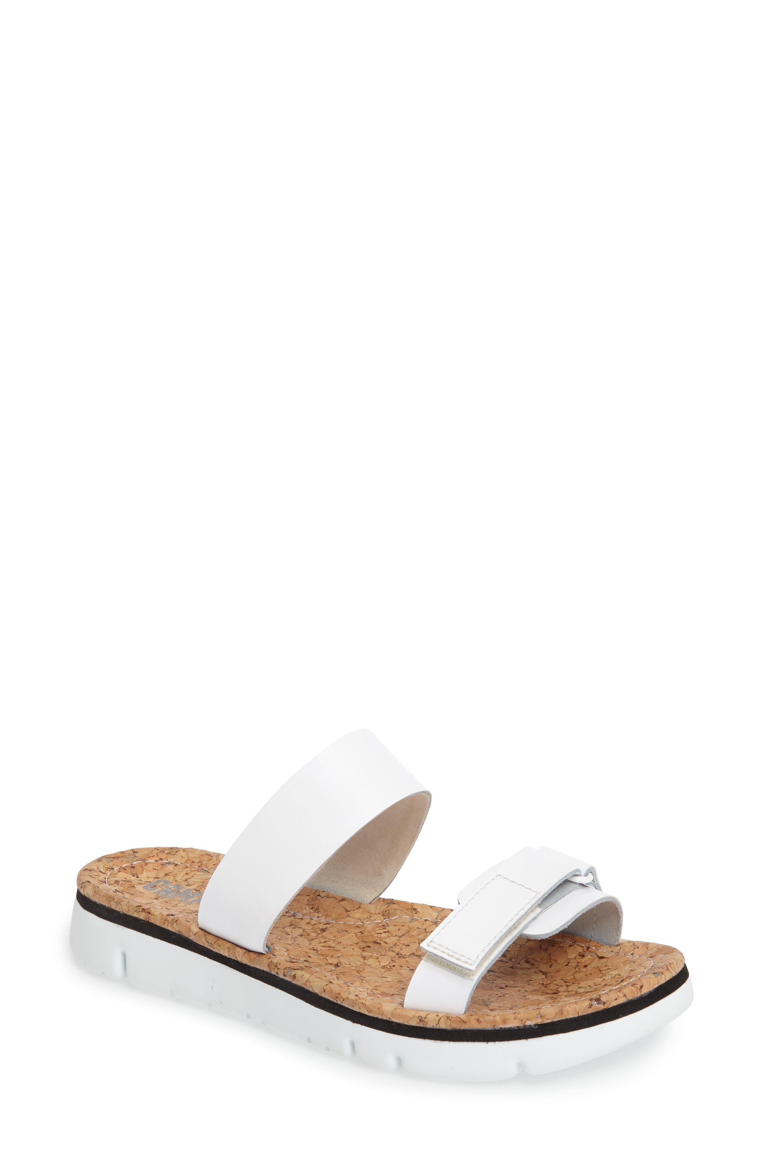 Alternate Image 1 Selected - Camper 'Oruga' Two Strap Slide Sandal (Women)