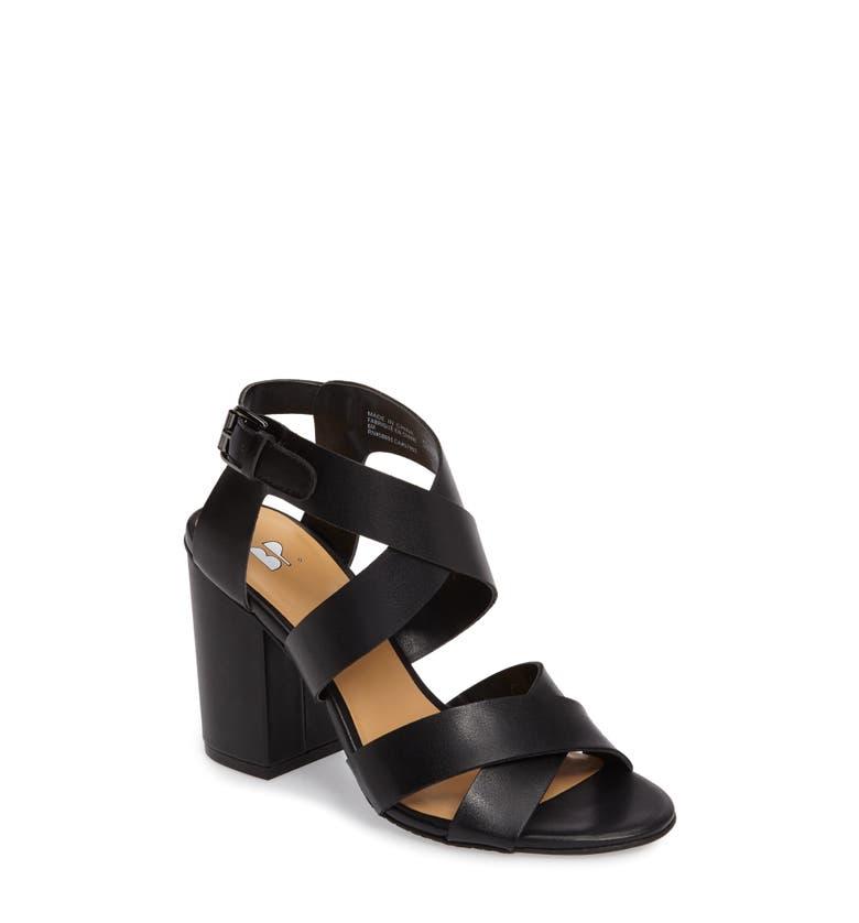 Bp Terry Block Heel Sandal Women Nordstrom