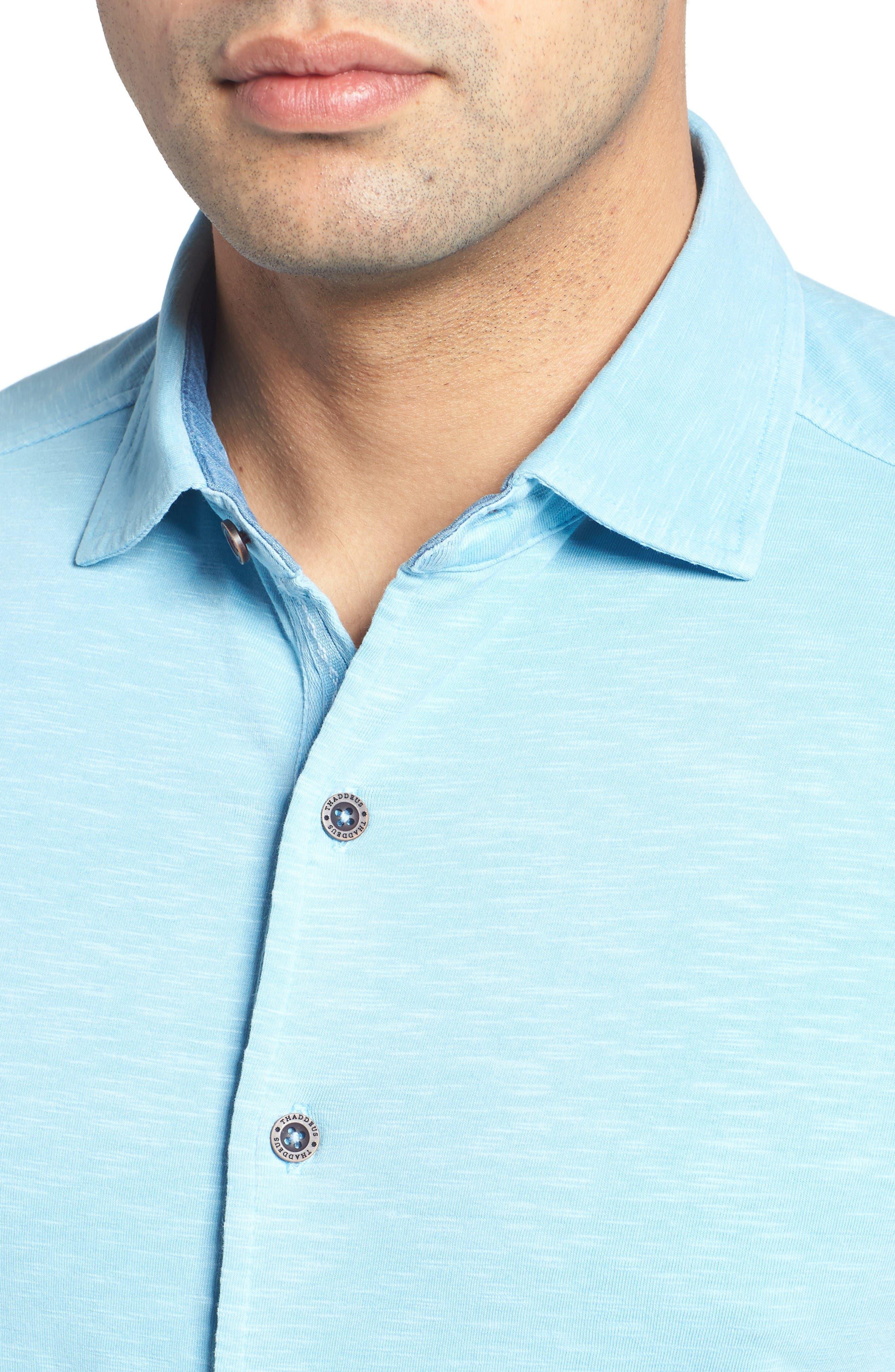 Alternate Image 4  - Thaddeus McAdams Slub Jersey Sport Shirt