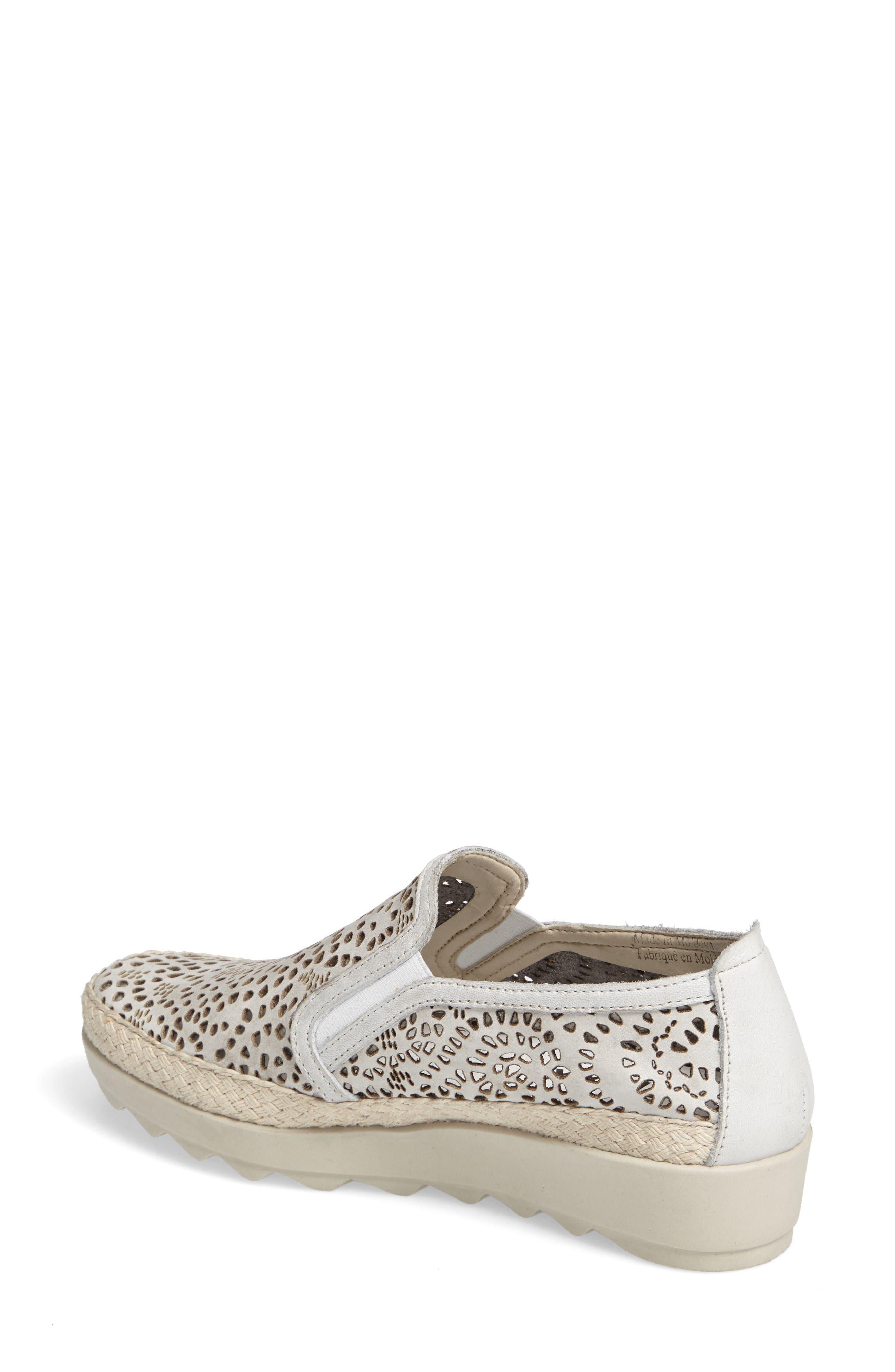 Alternate Image 2  - The FLEXX Call Me Perforated Slip-On Sneaker (Women)