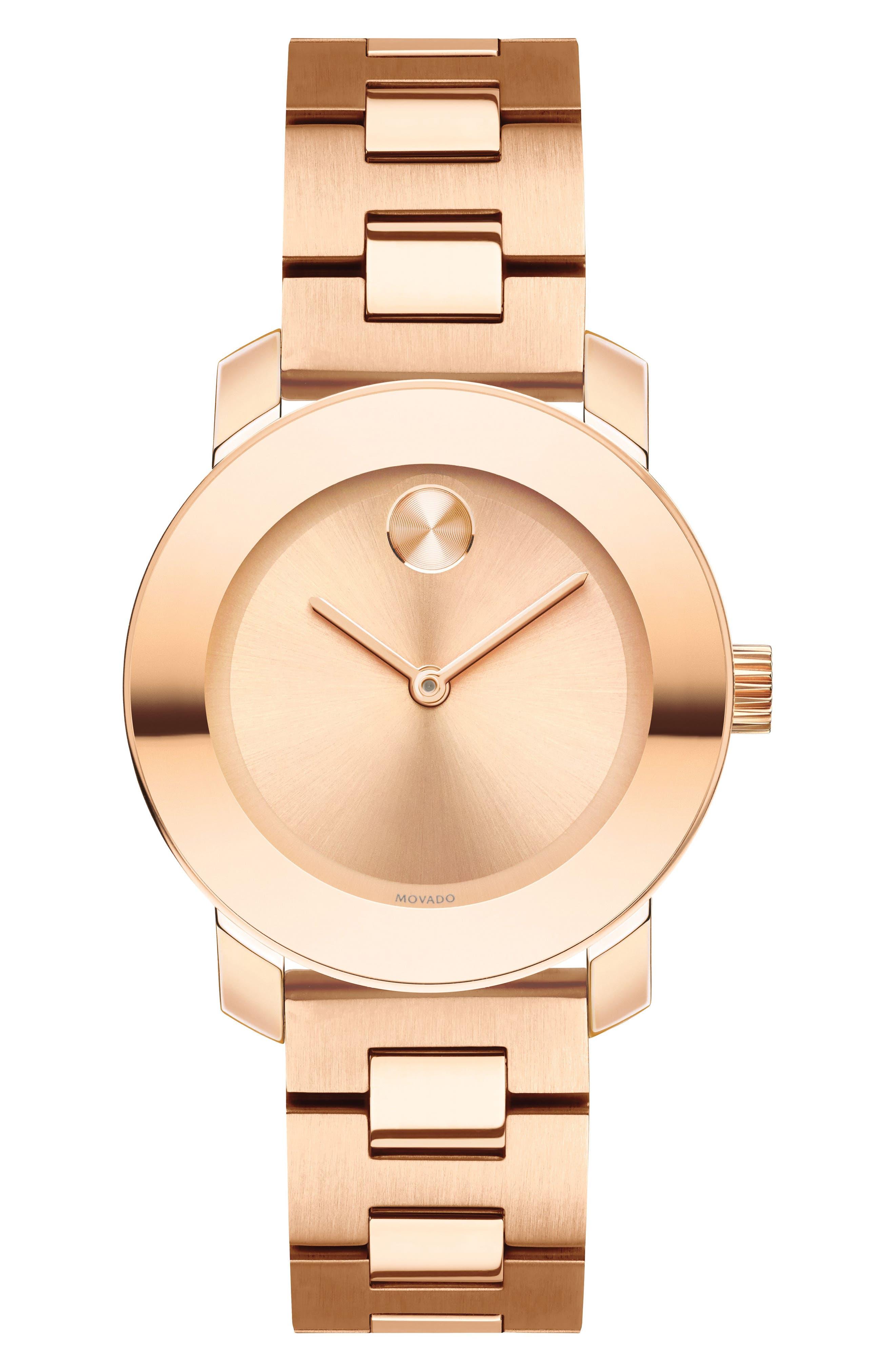 Bold Bracelet Watch, 30mm,                         Main,                         color, Rose Gold