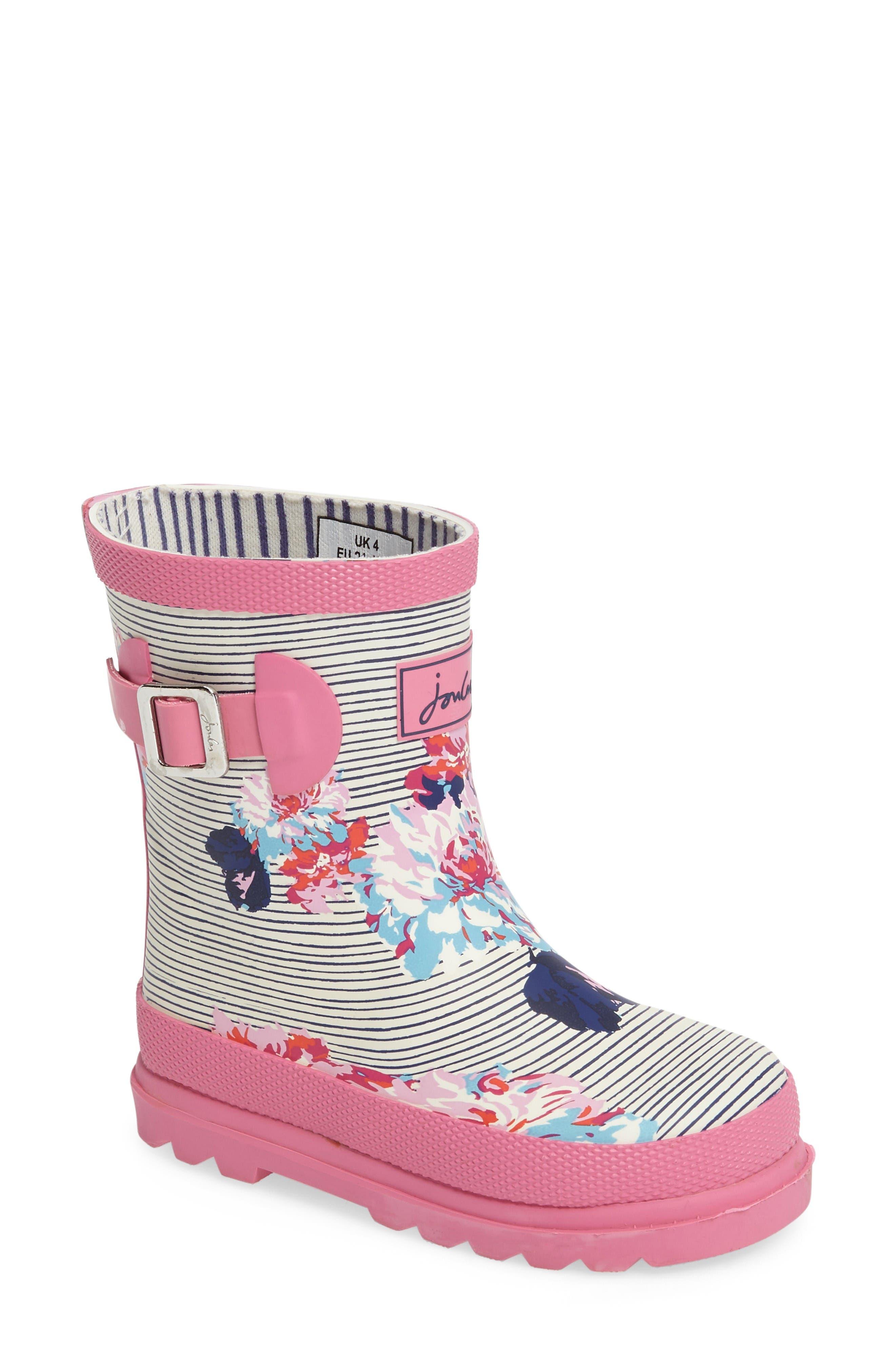JOULES Print Waterproof Rain Boot