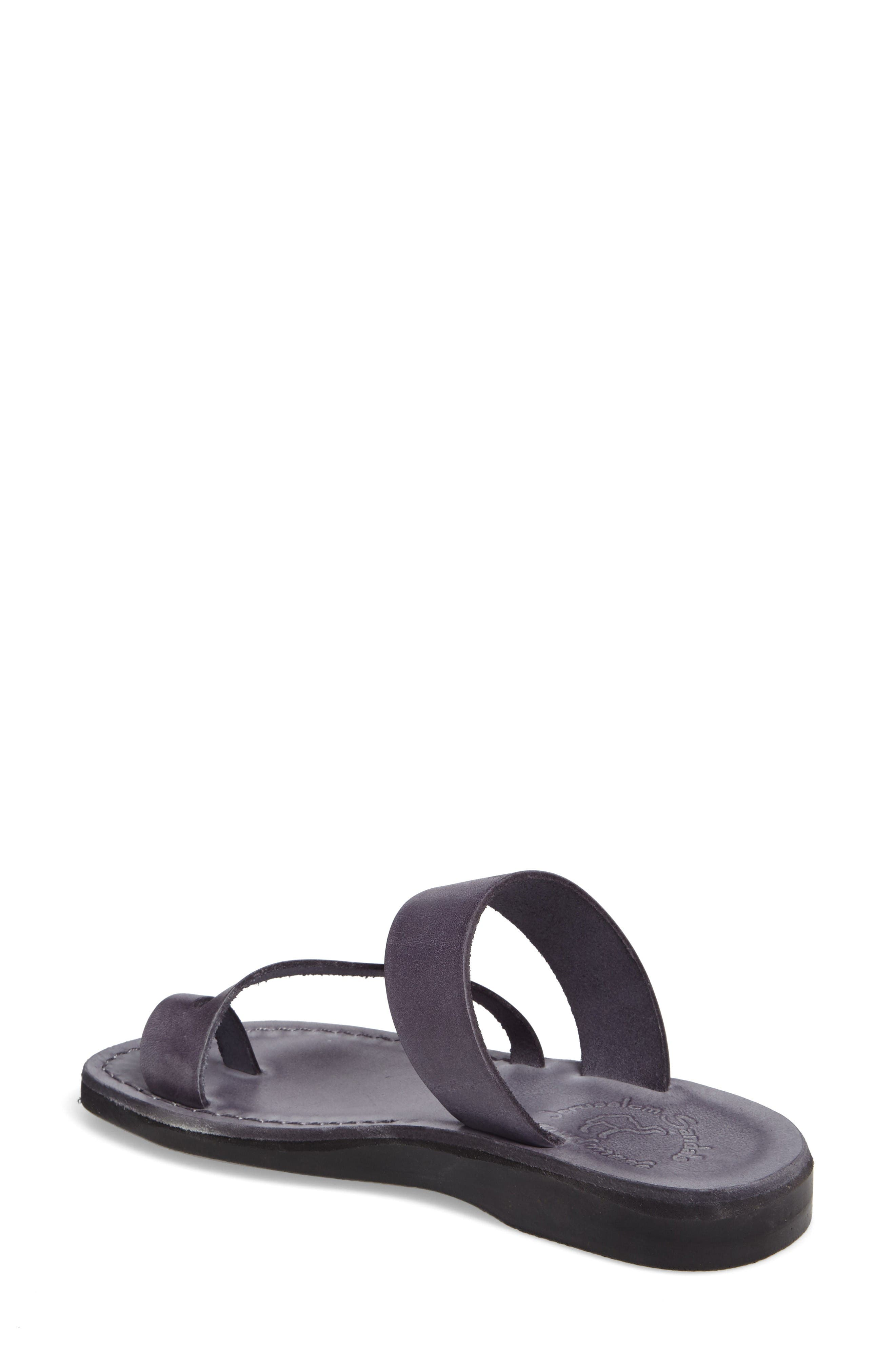 'Zohar' Leather Sandal,                             Alternate thumbnail 2, color,                             Grey Leather
