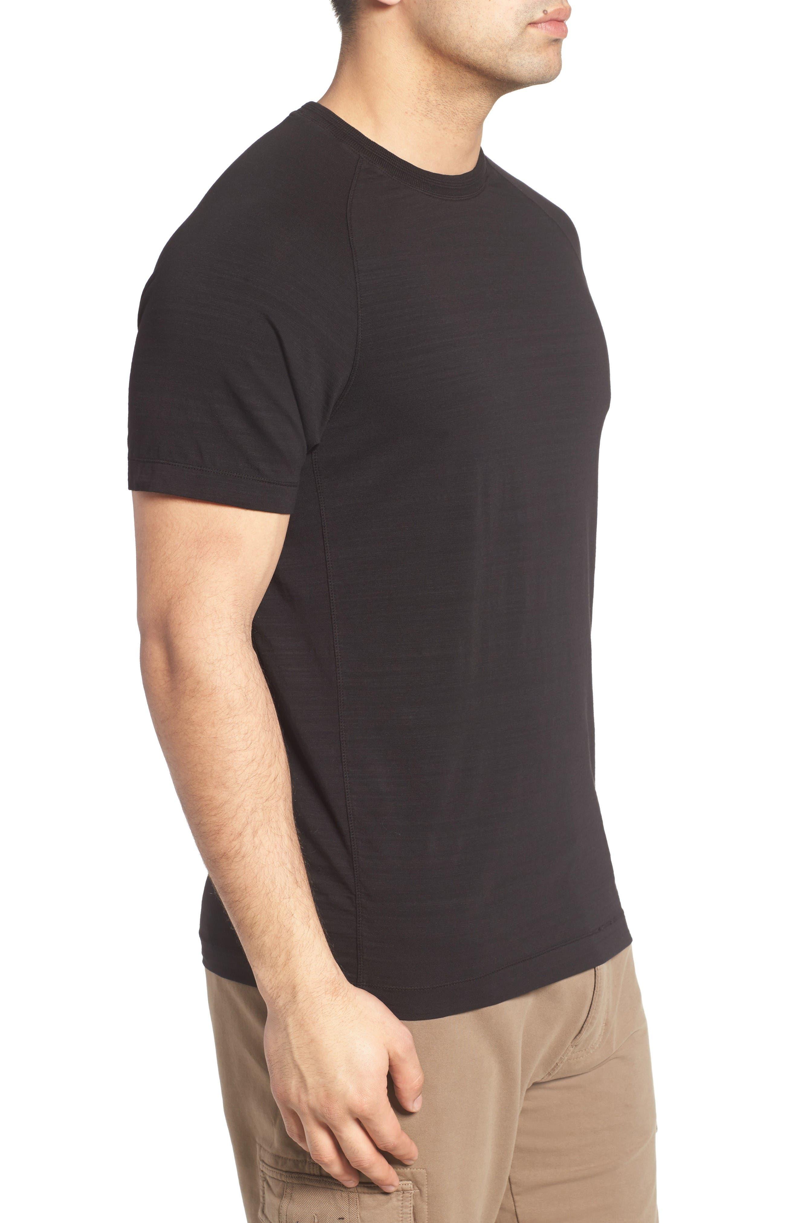 Riggs Stretch Slub Jersey T-Shirt,                             Alternate thumbnail 3, color,                             Black