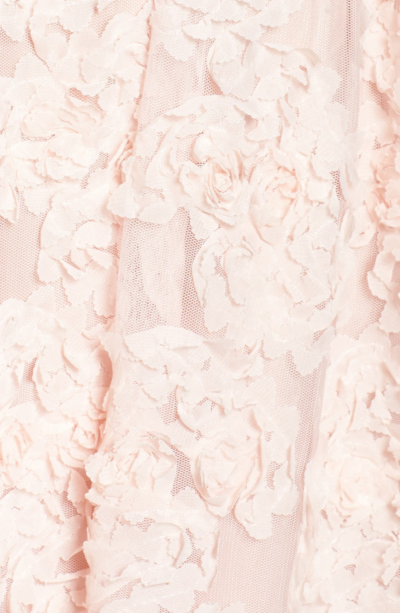 Embellished Petal Chiffon Ballgown,                             Alternate thumbnail 5, color,                             Blush
